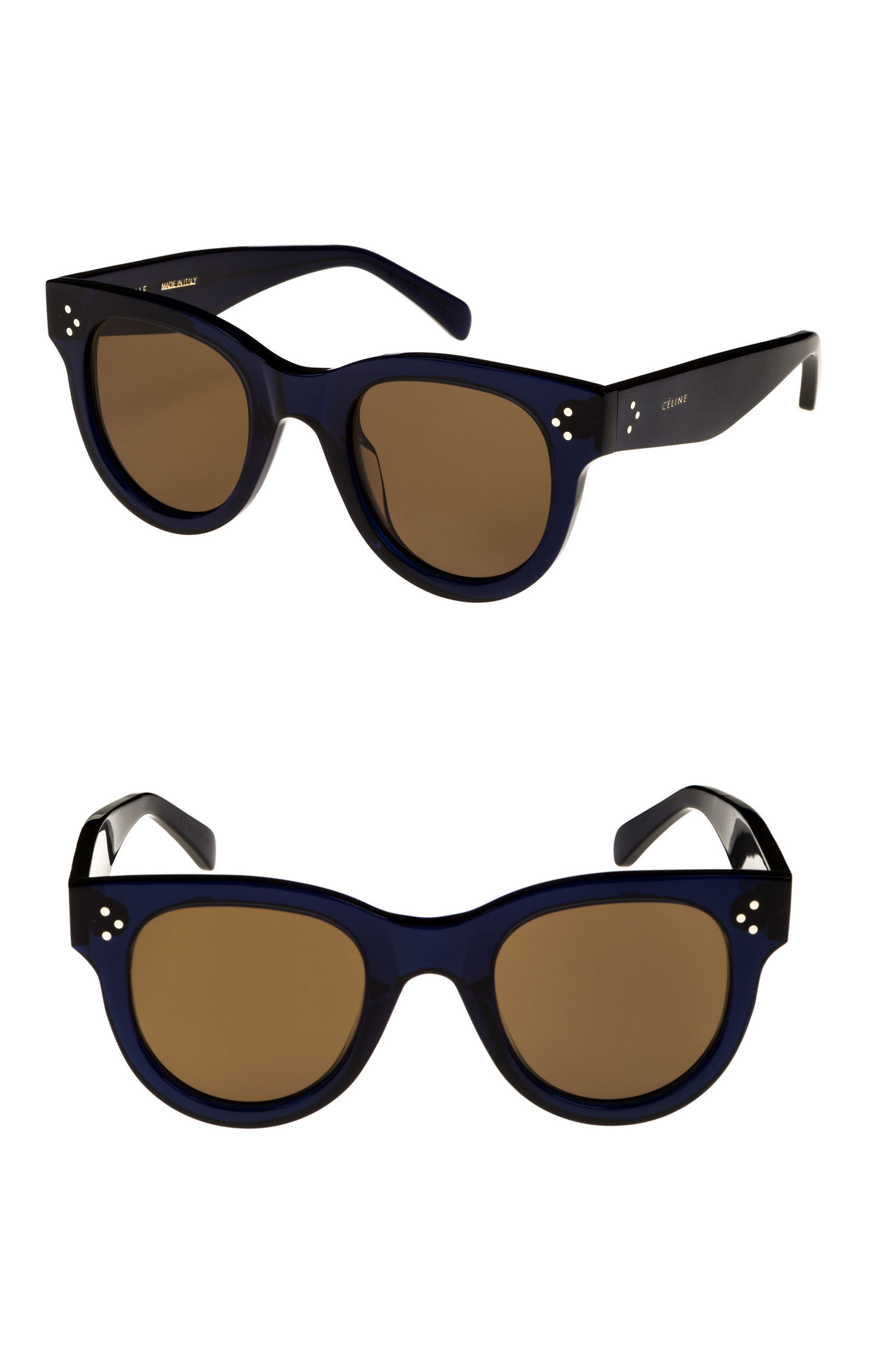 48mm Round Sunglasses,                             Main thumbnail 1, color,