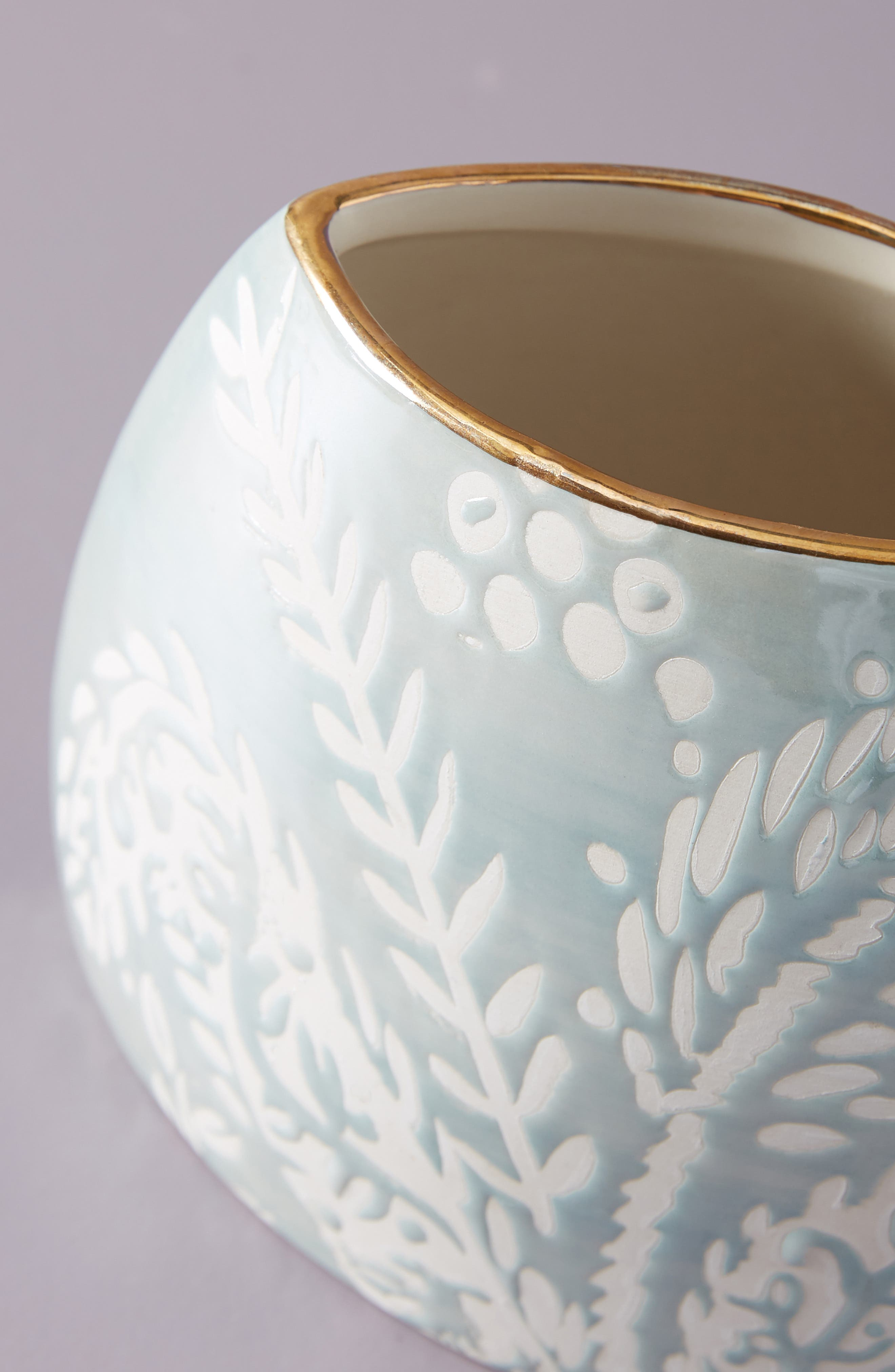 ANTHROPOLOGIE,                             Holly Vase,                             Alternate thumbnail 2, color,                             BLUE