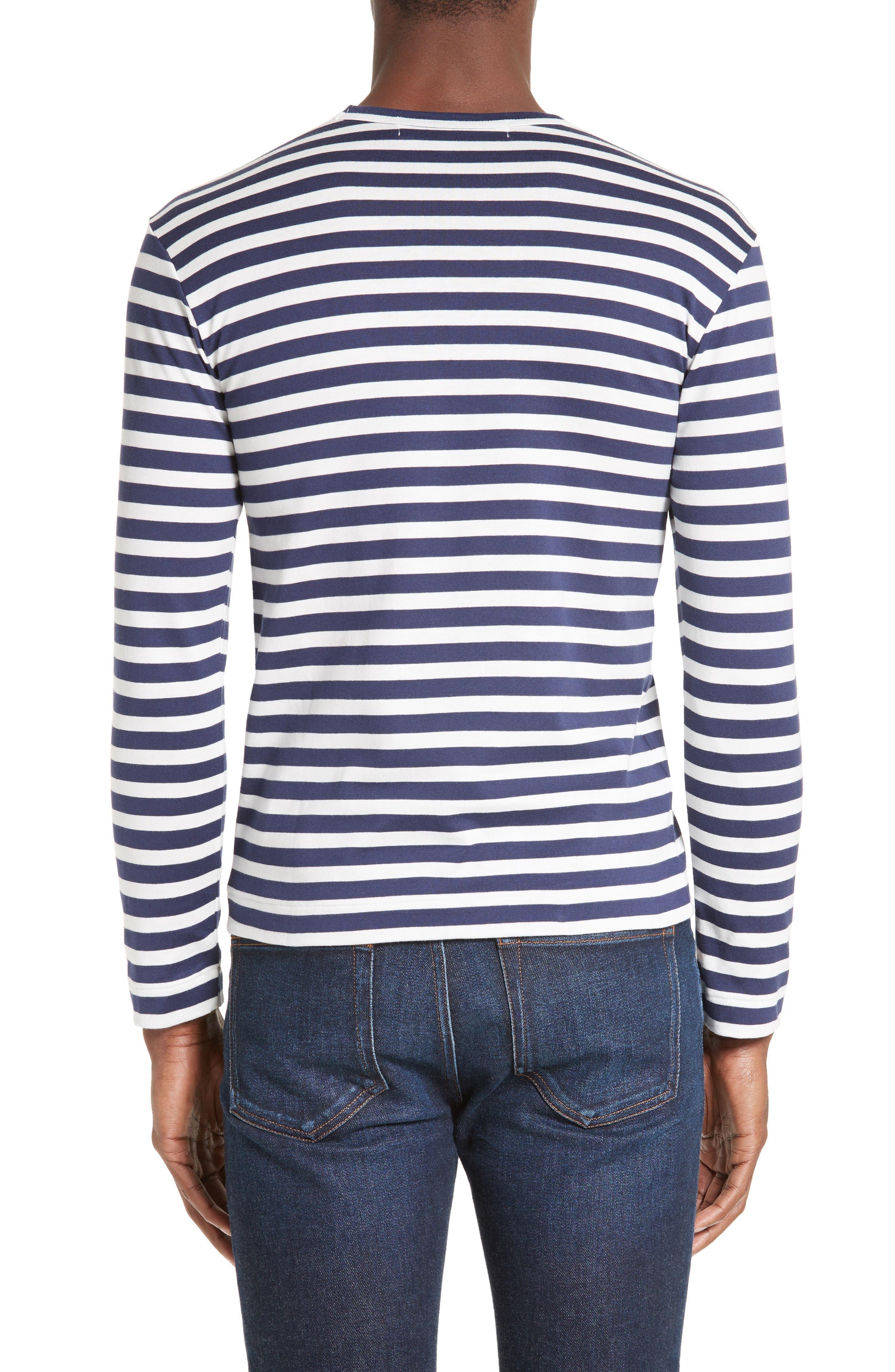 PLAY Stripe T-Shirt,                             Alternate thumbnail 2, color,