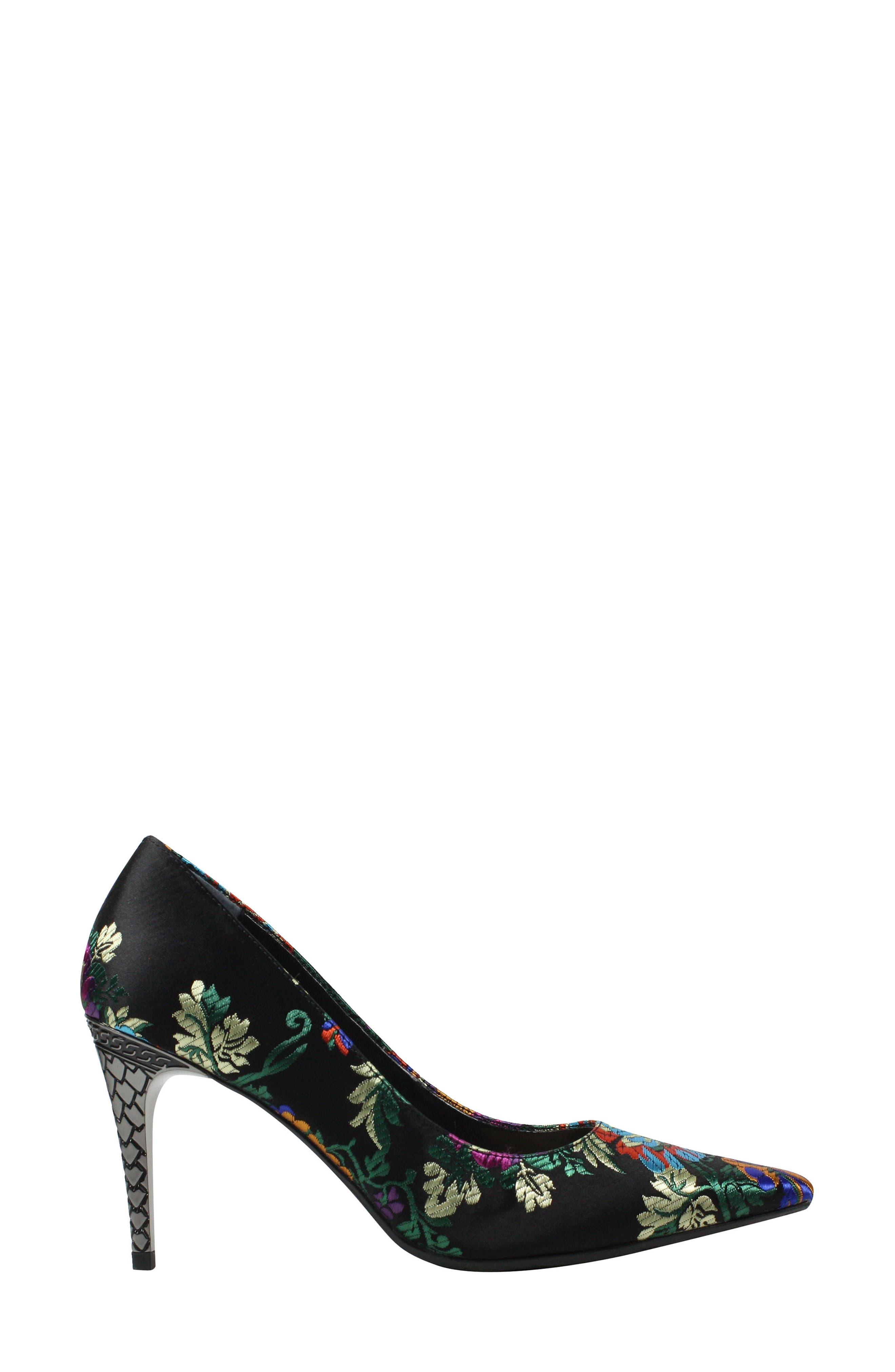'Maressa' Pointy Toe Pump,                             Alternate thumbnail 3, color,                             BLACK MULTI