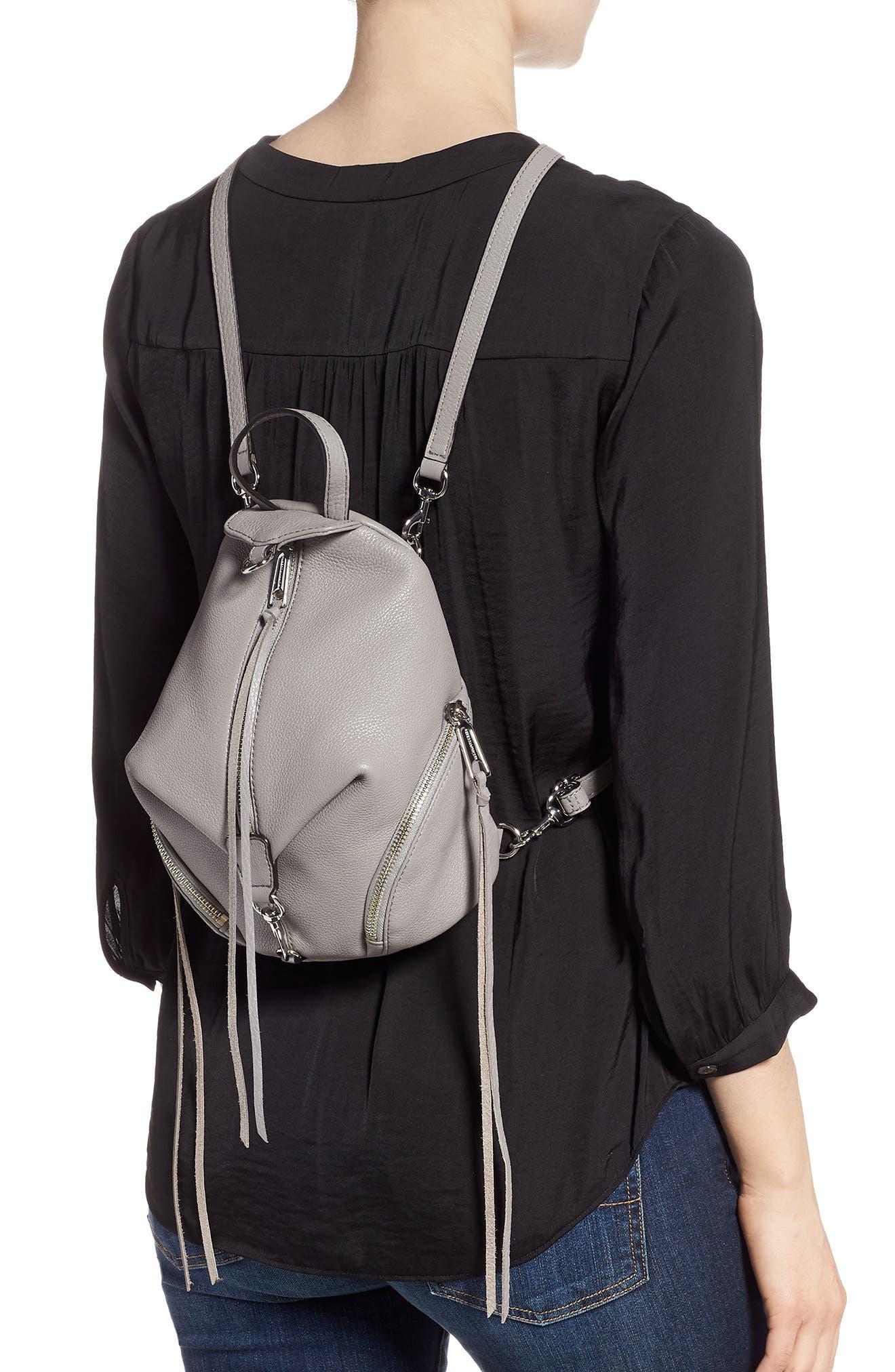 Mini Julian Pebbled Leather Convertible Backpack,                             Alternate thumbnail 2, color,                             021