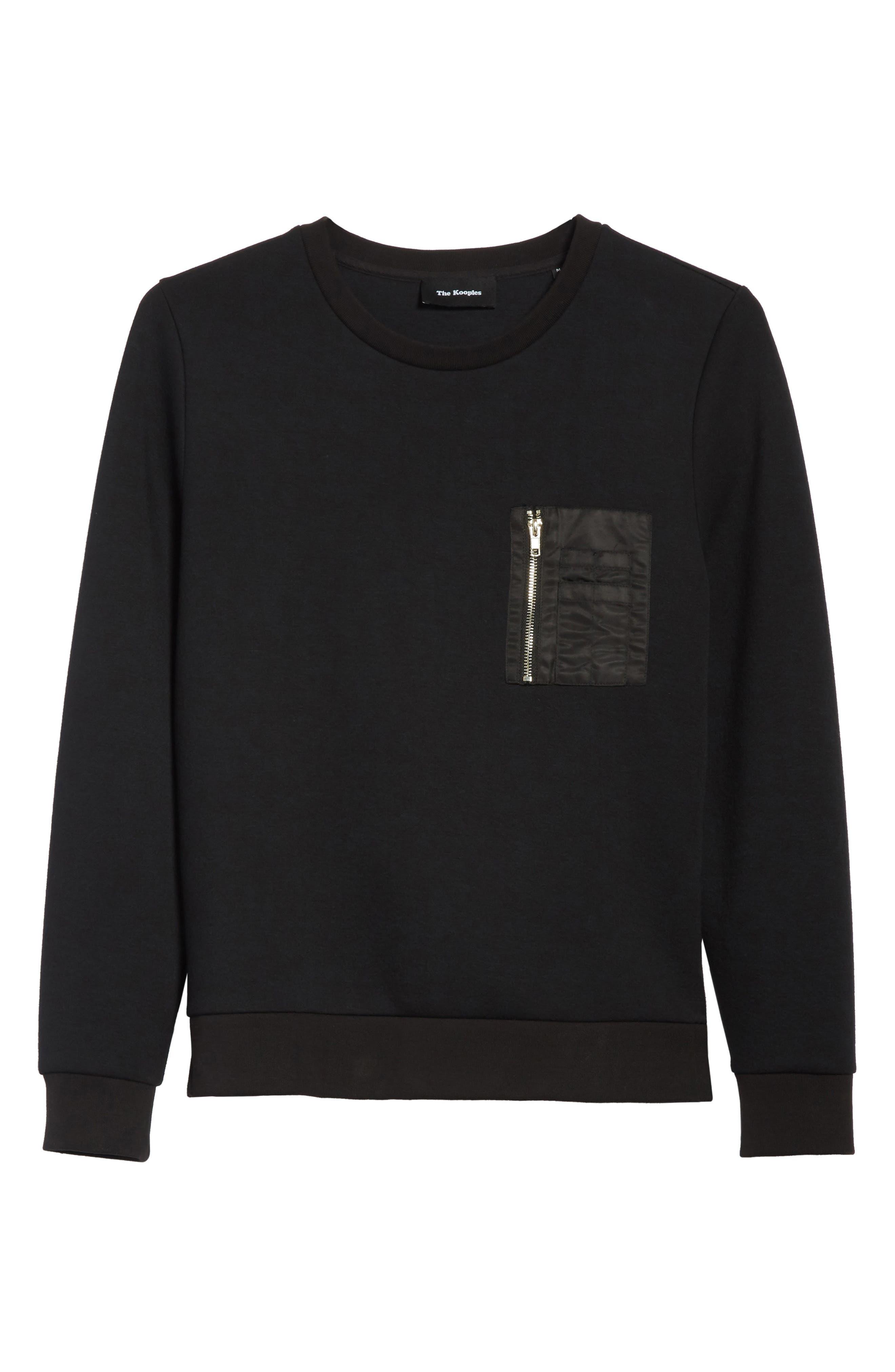 Fleece Sweatshirt,                             Alternate thumbnail 6, color,                             001