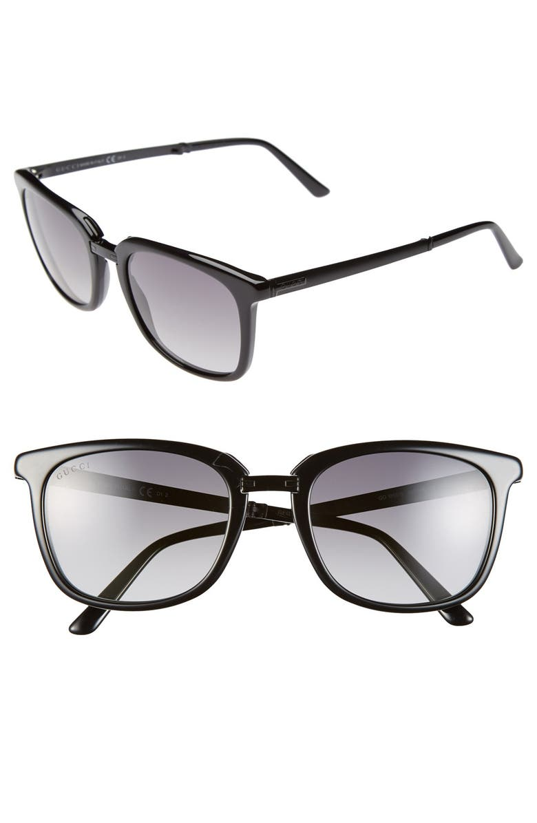 cf66f89d31 Gucci Foldable 52mm Metal   Acetate Sunglasses