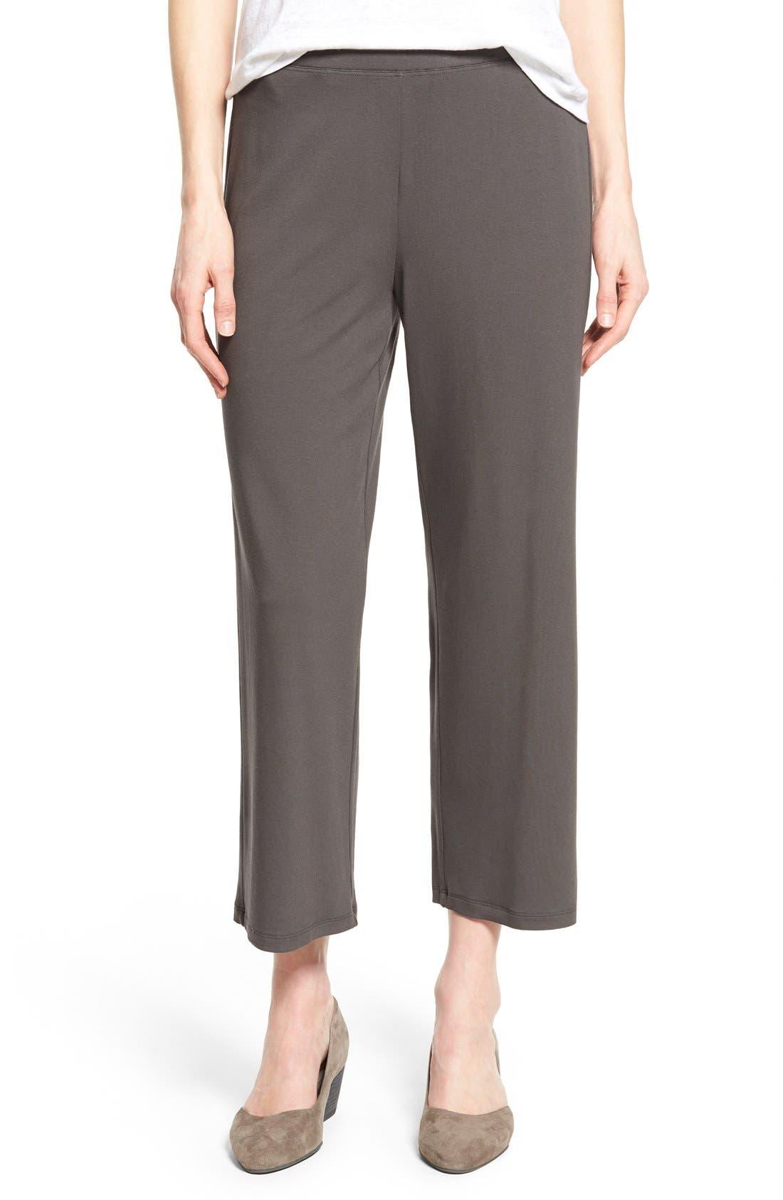Crop Jersey Pants,                             Main thumbnail 3, color,
