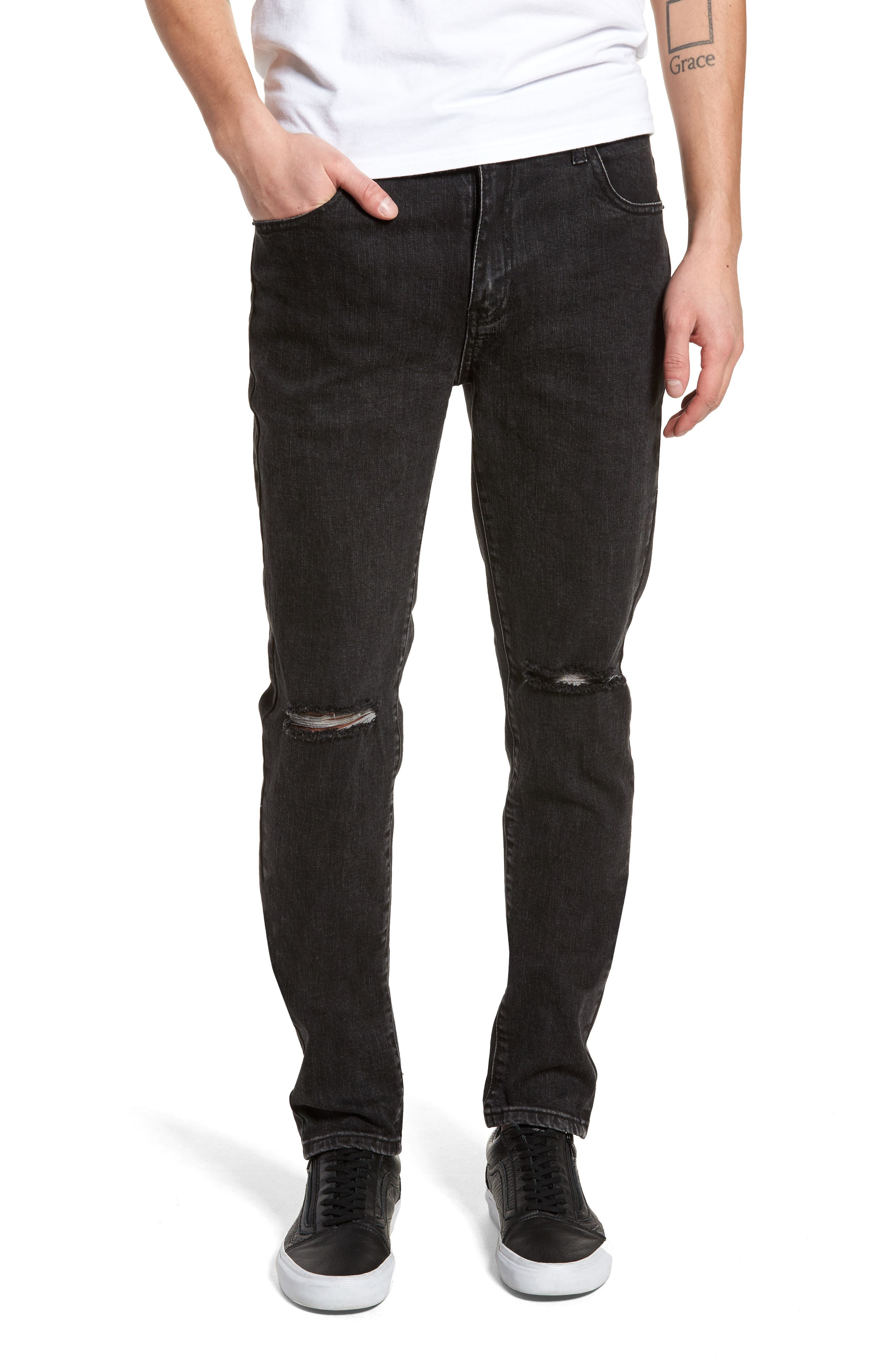 Baxter Ripped Jeans,                             Main thumbnail 1, color,                             001