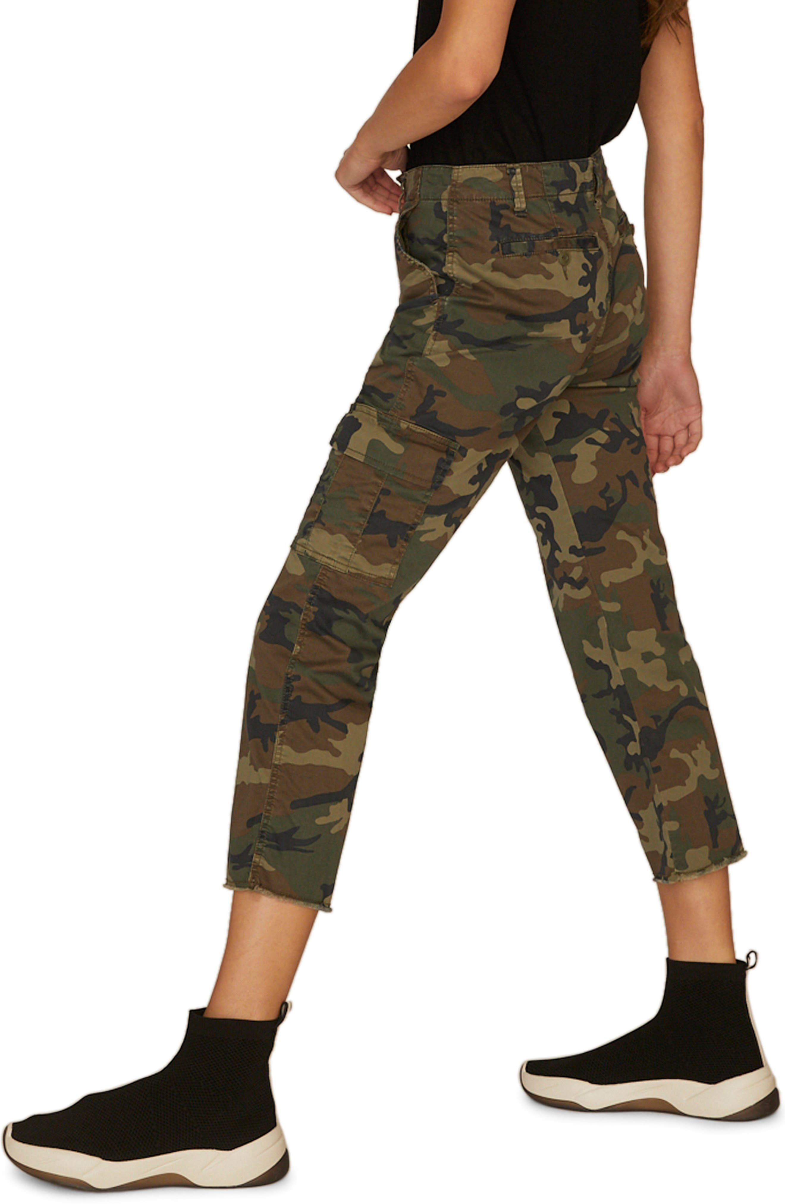Combat Crop Pants,                             Alternate thumbnail 3, color,                             LOVE CAMO