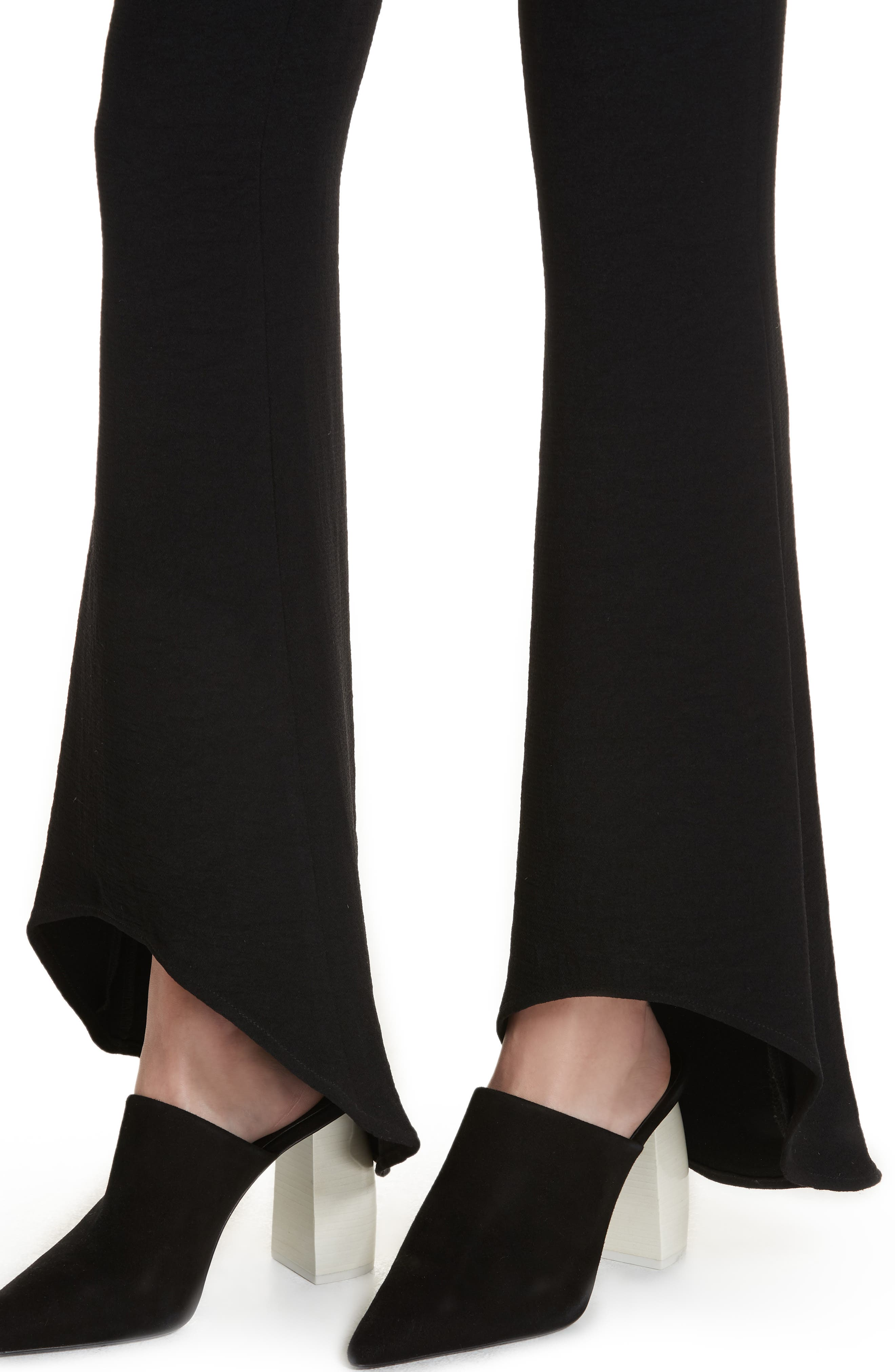 The Carmen Flare Pants,                             Alternate thumbnail 4, color,                             BLACK