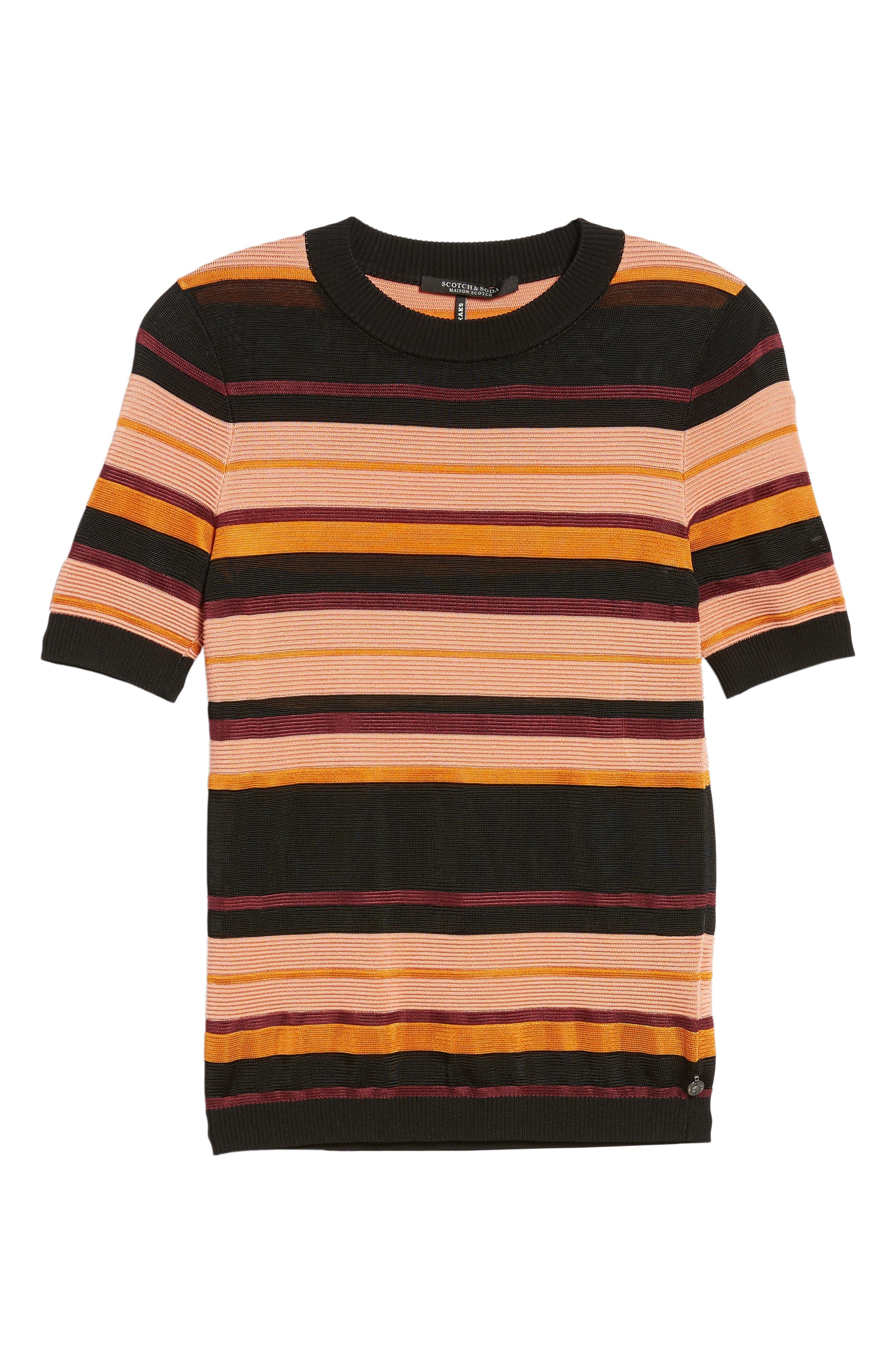 Stripe Knit Top,                             Alternate thumbnail 6, color,                             931