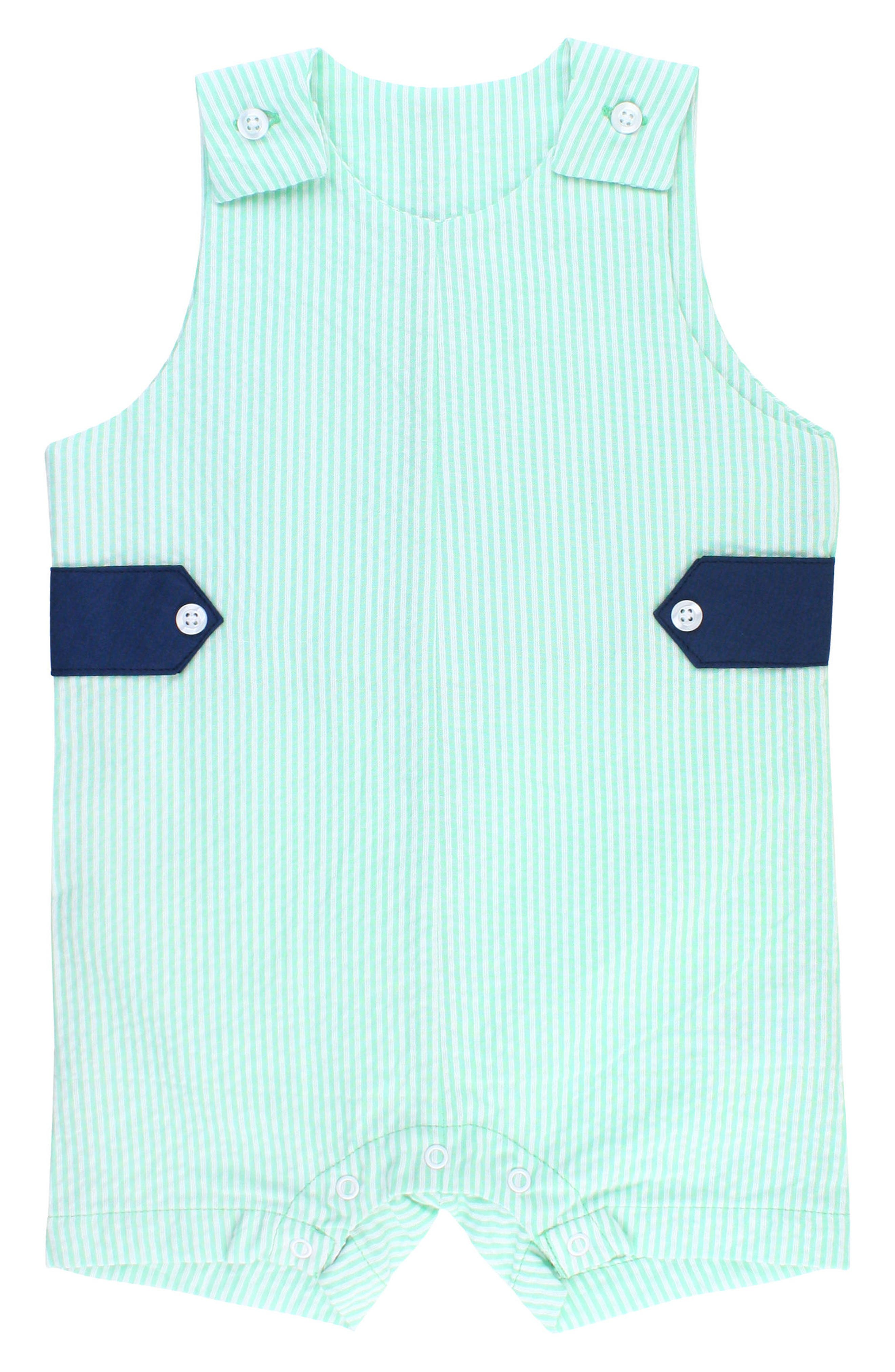 Seersucker Stripe Overalls,                             Main thumbnail 1, color,                             MINT