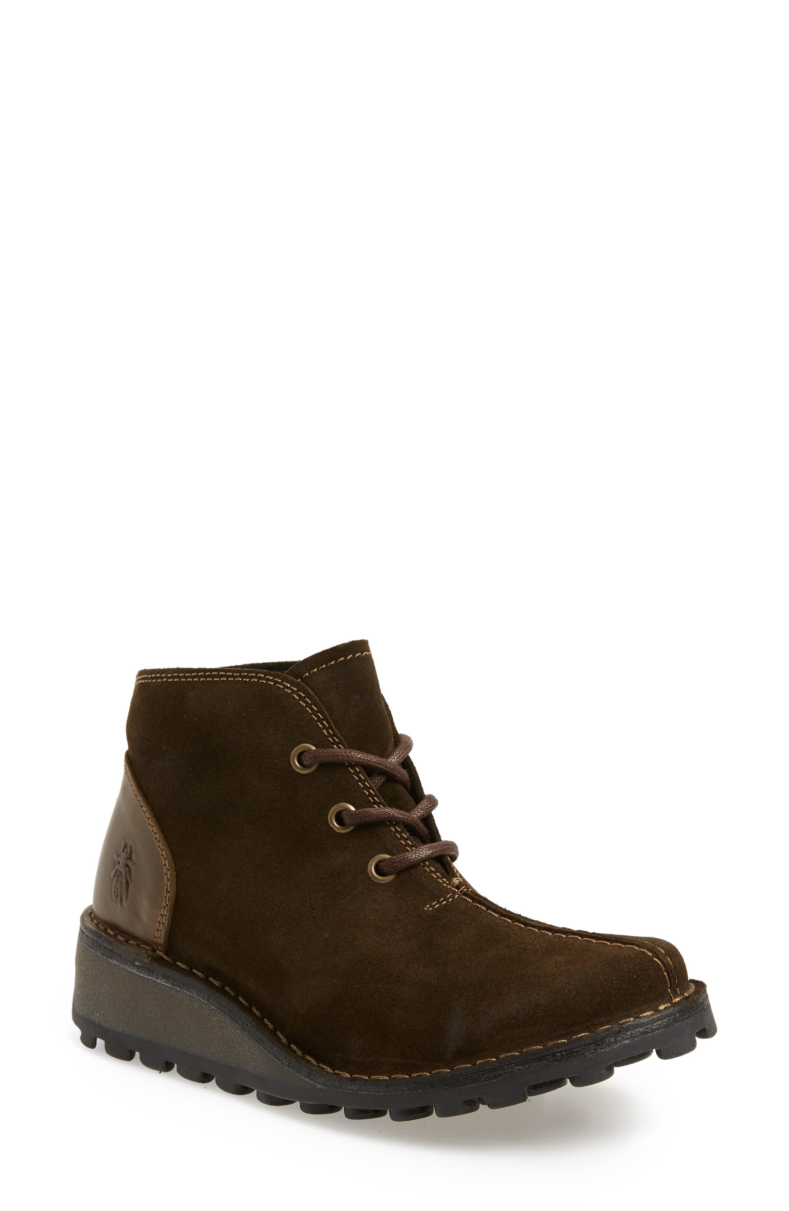 Fly London Mili Wedge Bootie - Green