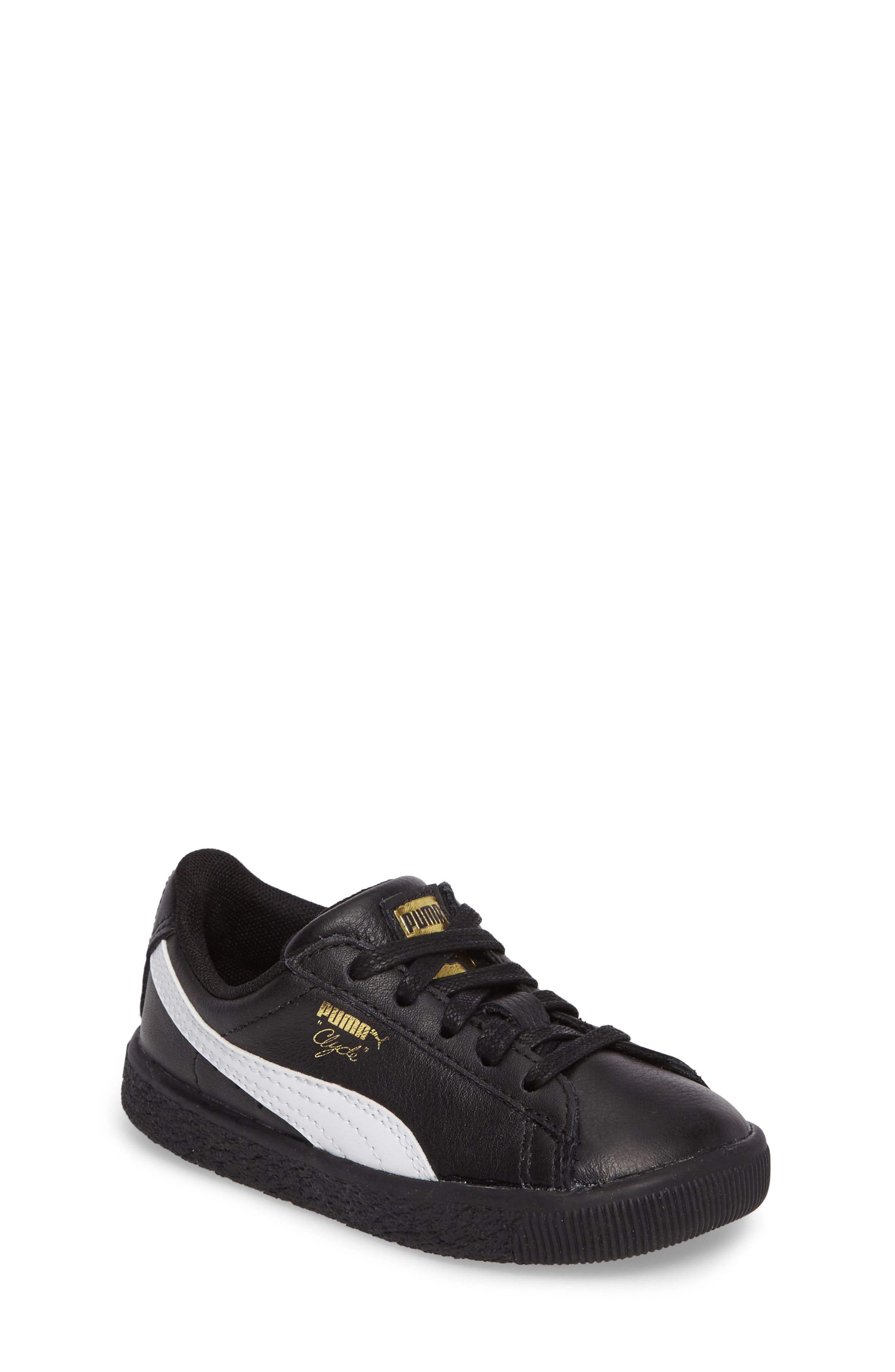 Clyde Core Foil Sneaker,                         Main,                         color, 001