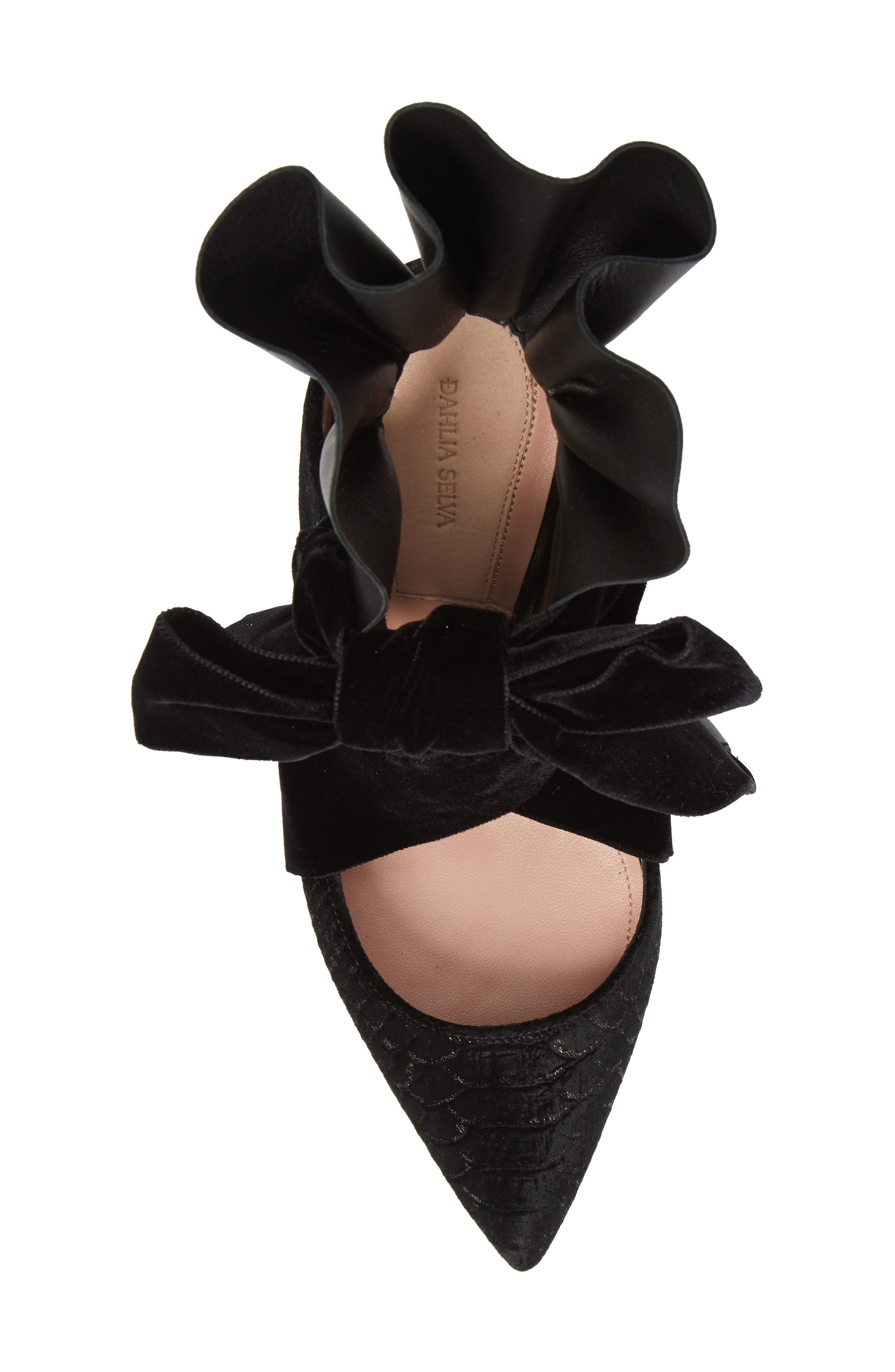 Frills Cobra Pump,                             Alternate thumbnail 5, color,                             BLACK