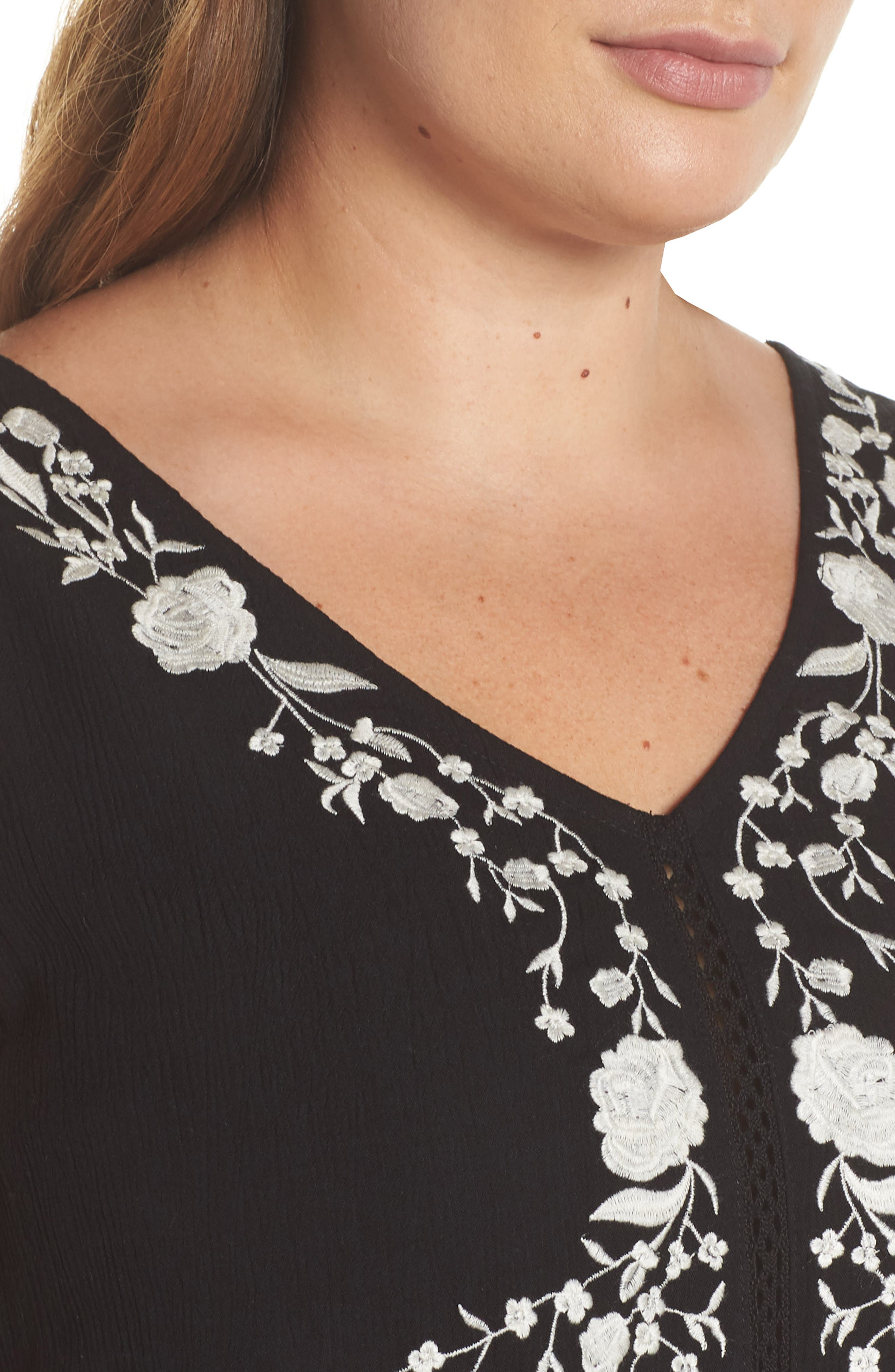 ANGIE,                             Embroidered Woven Tank,                             Alternate thumbnail 4, color,                             001