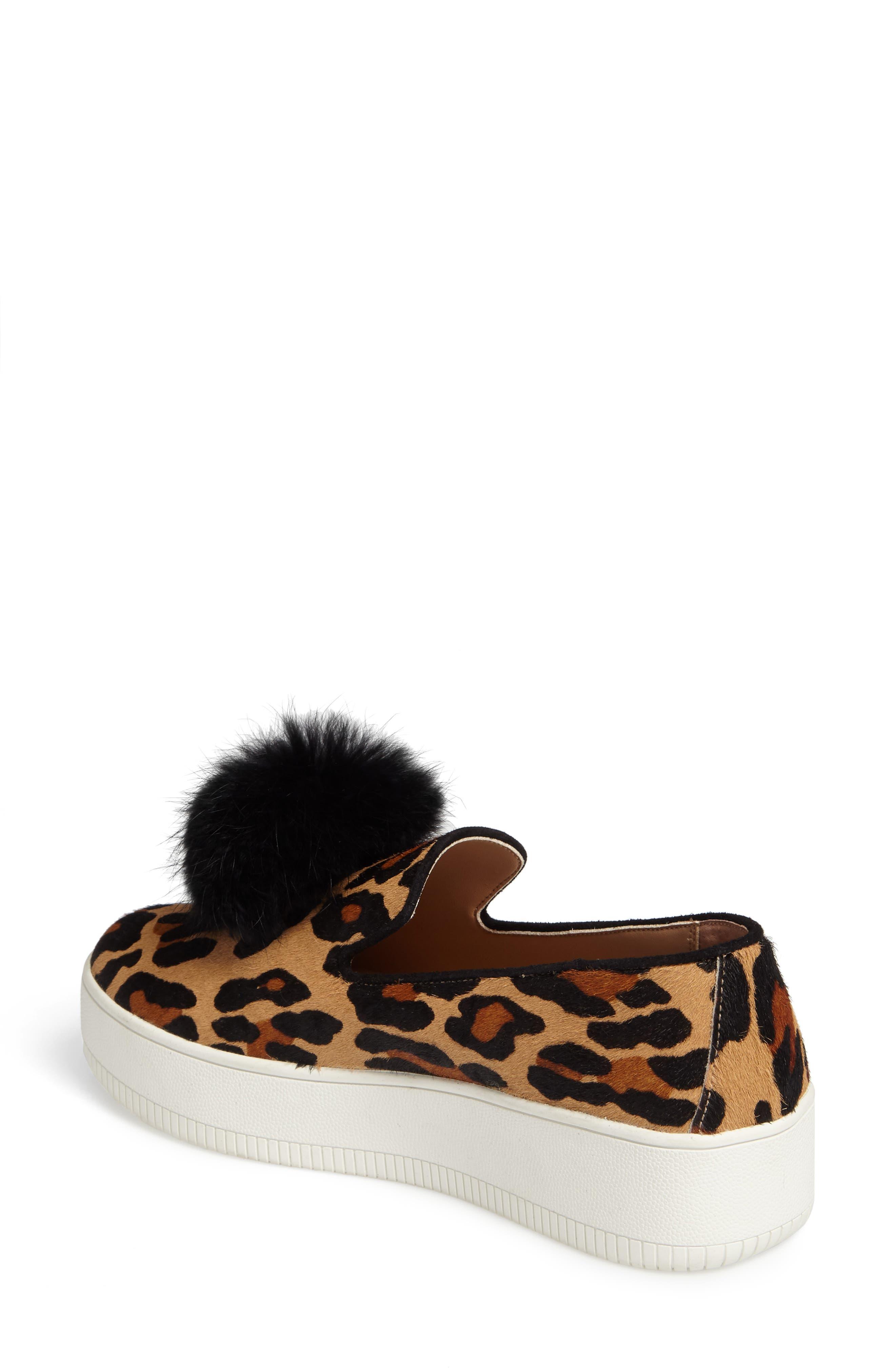 Sammy II Genuine Calf Hair Platform Sneaker with Genuine Rabbit Fur Trim,                             Alternate thumbnail 2, color,                             215