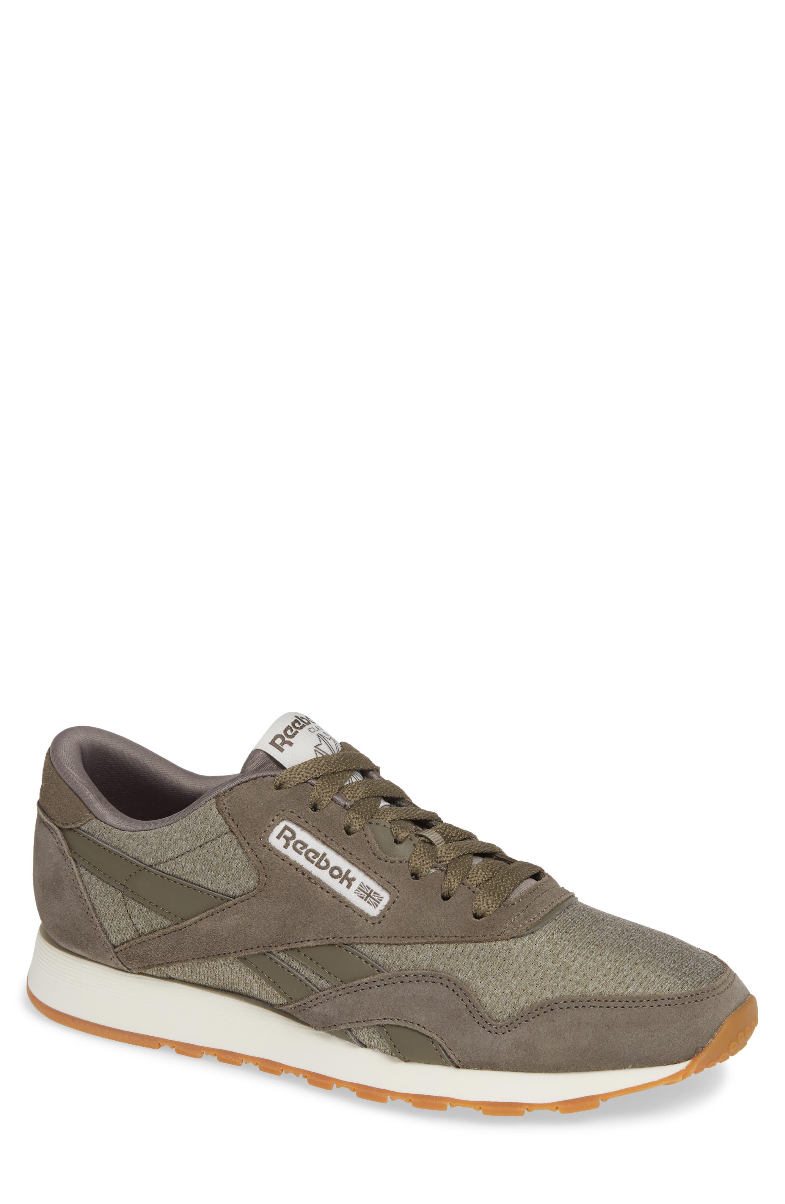 Classic Leather Nylon SG Sneaker,                         Main,                         color, TERRAIN GREY/ CHALK