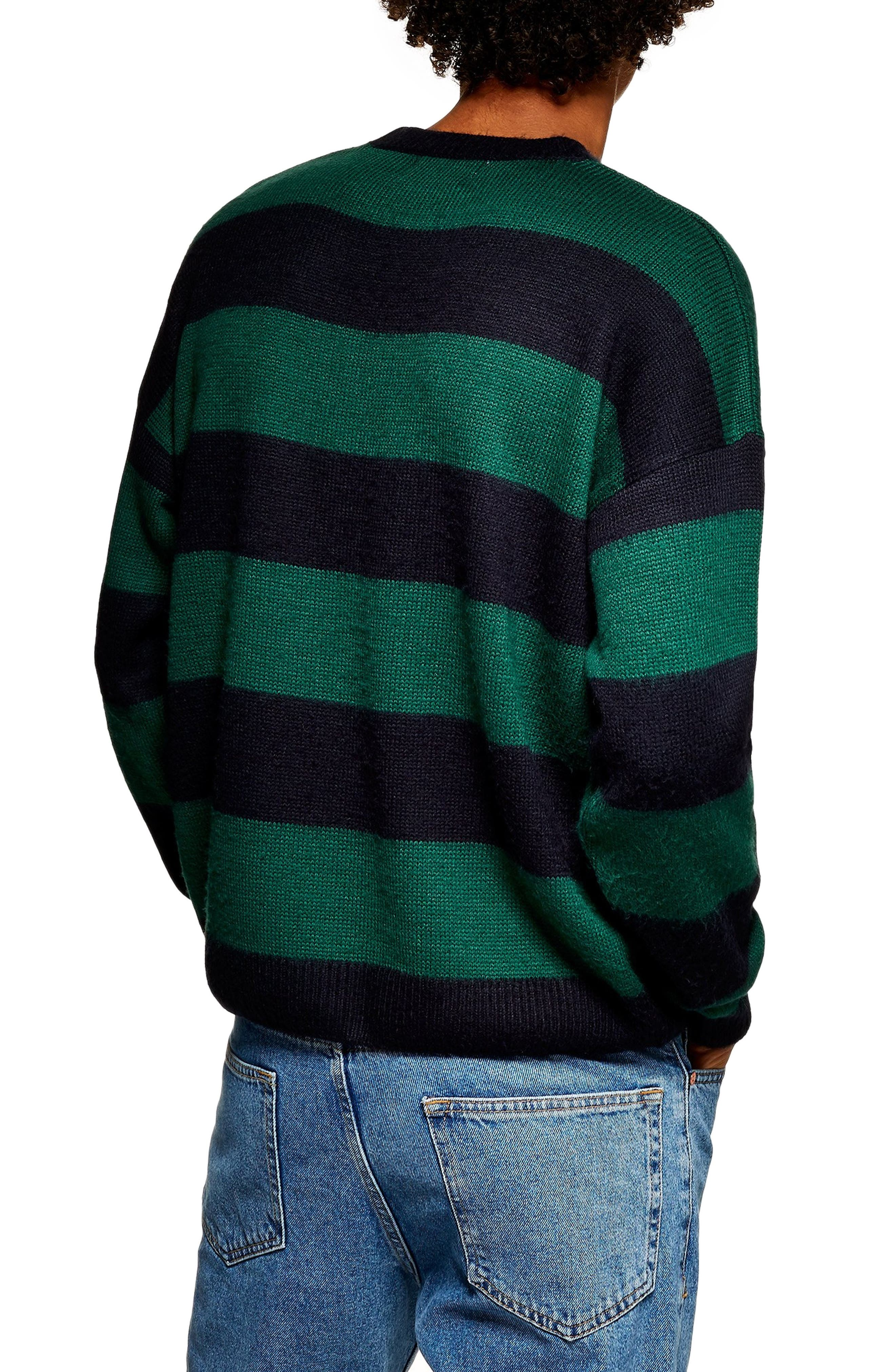 Block Stripe Classic Fit Sweater,                             Alternate thumbnail 2, color,                             GREEN MULTI