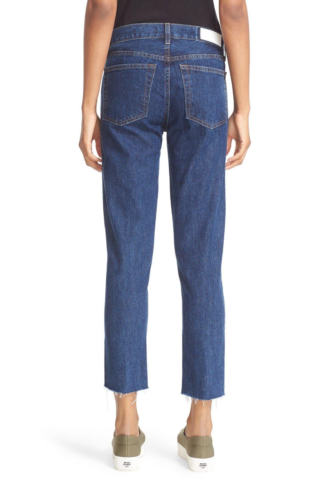 Originals High Waist Crop Jeans,                             Alternate thumbnail 2, color,                             400