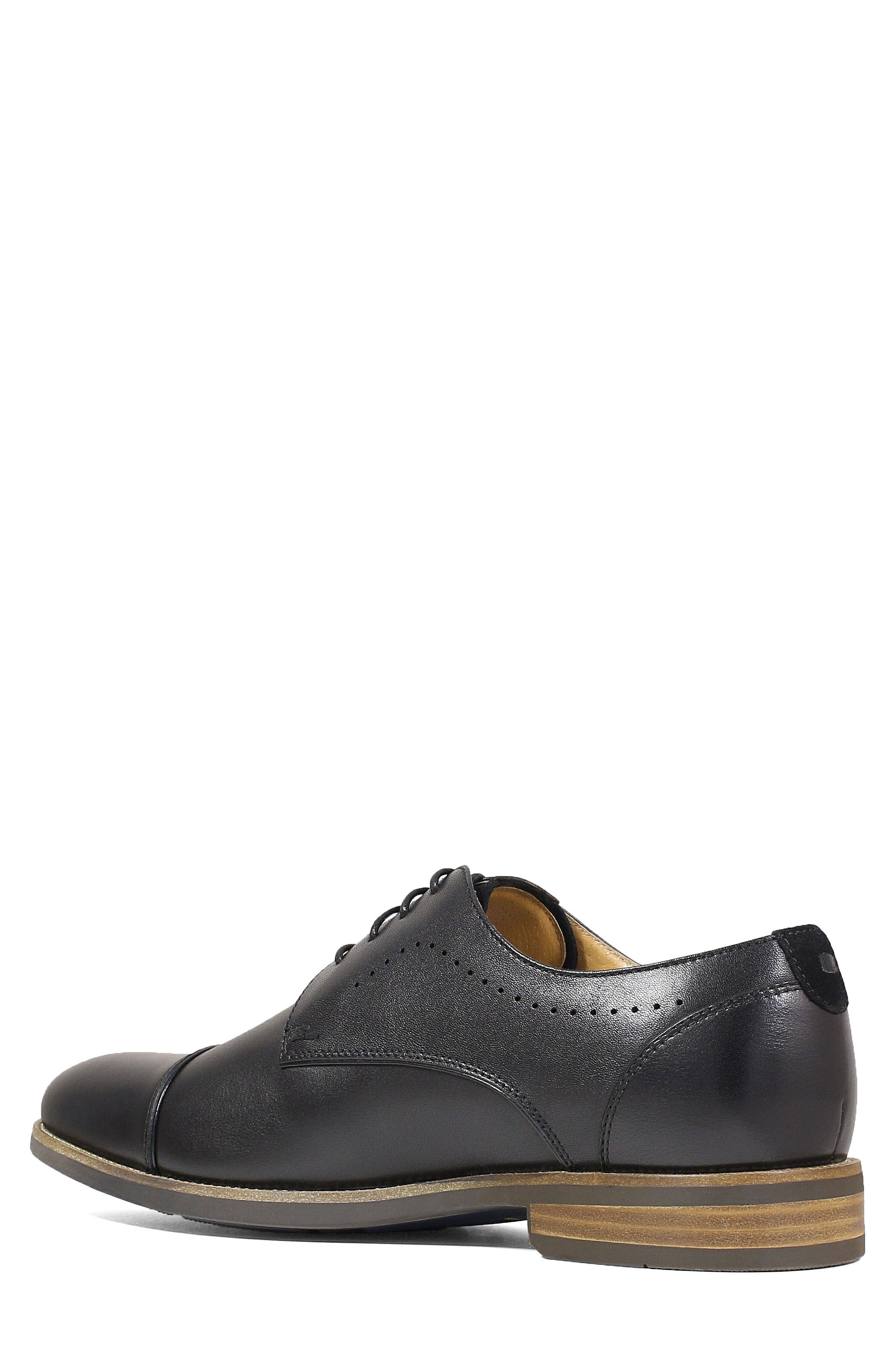 Uptown Cap Toe Derby,                             Alternate thumbnail 2, color,                             BLACK LEATHER