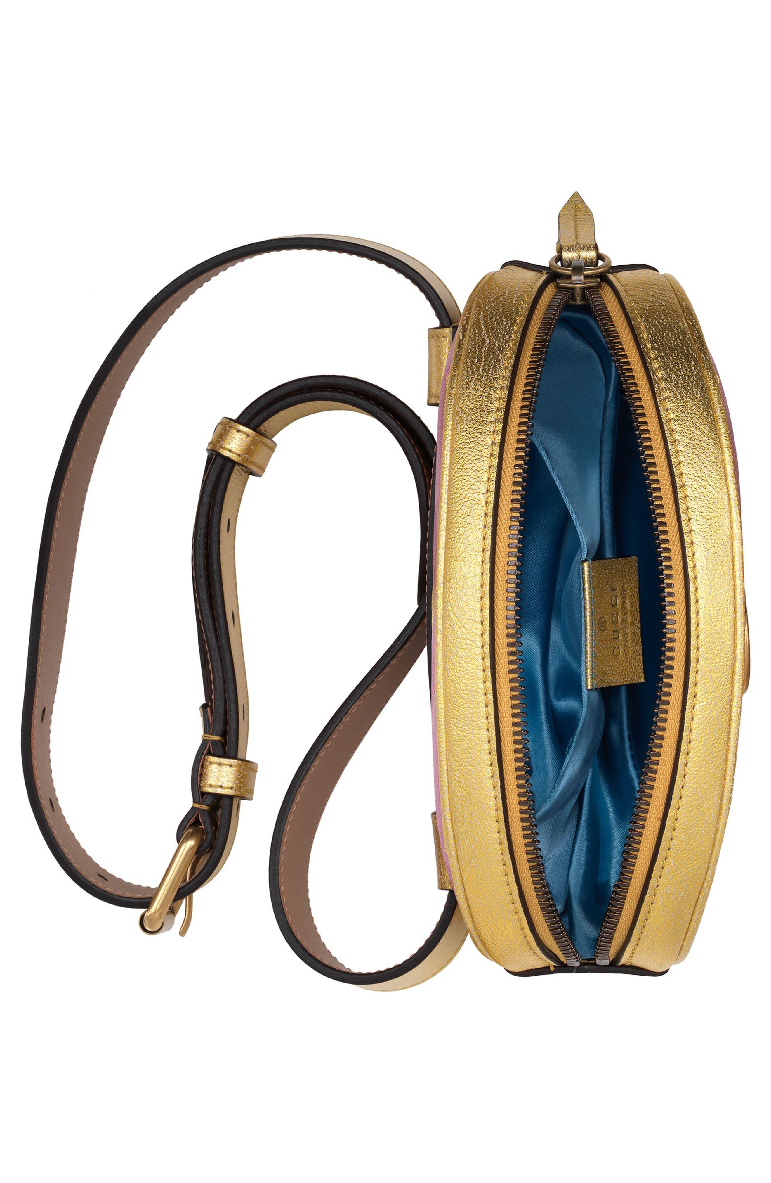 Marmont 2.0 Leather Belt Bag,                             Alternate thumbnail 3, color,                             710