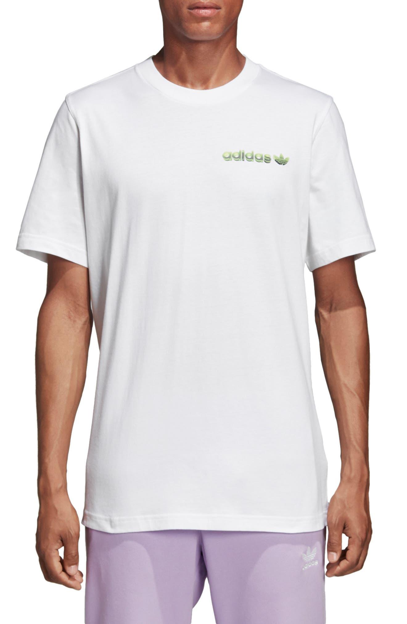 Adidas Originals Tropical Graphic T-Shirt, White