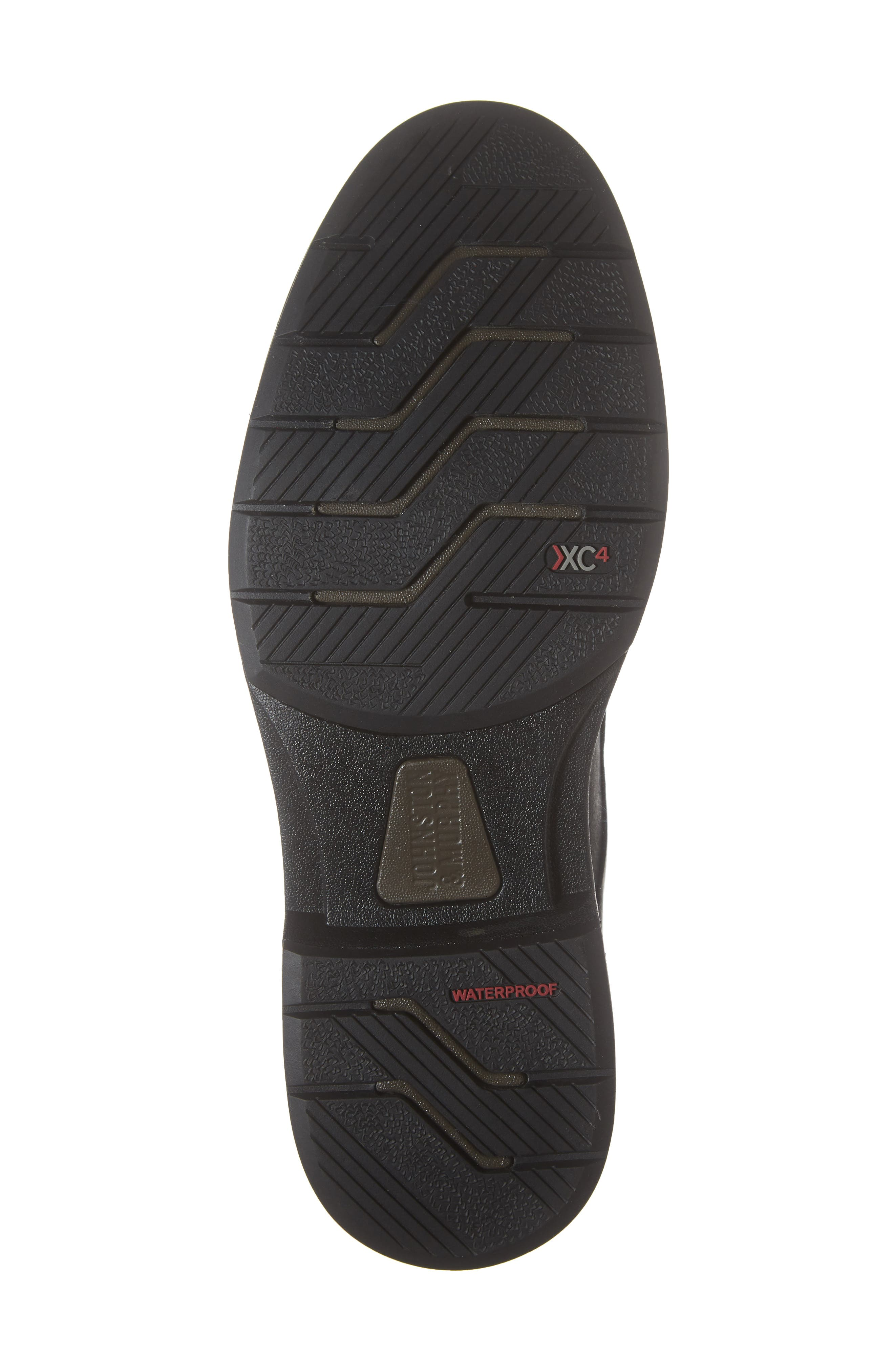 Rutledge Waterproof Moc Toe Boot,                             Alternate thumbnail 6, color,                             BLACK LEATHER