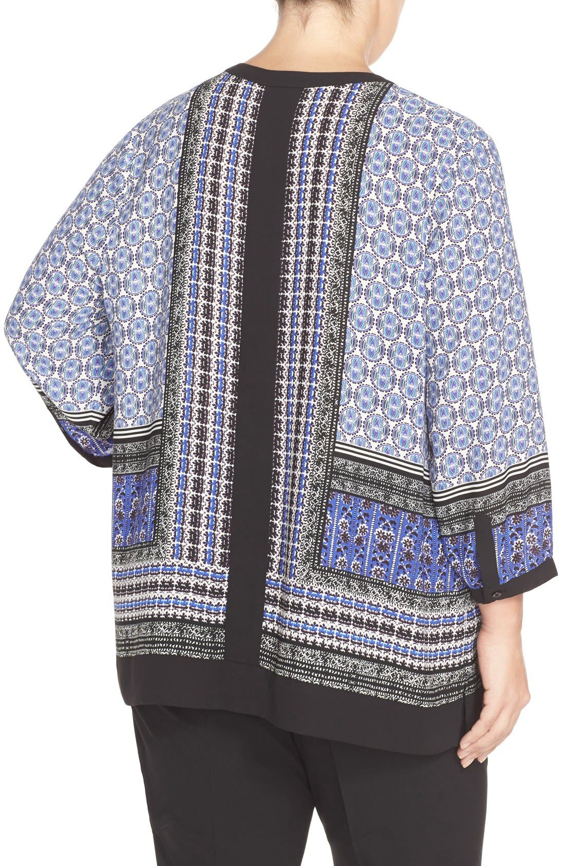 Print Split Neck Tunic,                             Alternate thumbnail 2, color,                             402