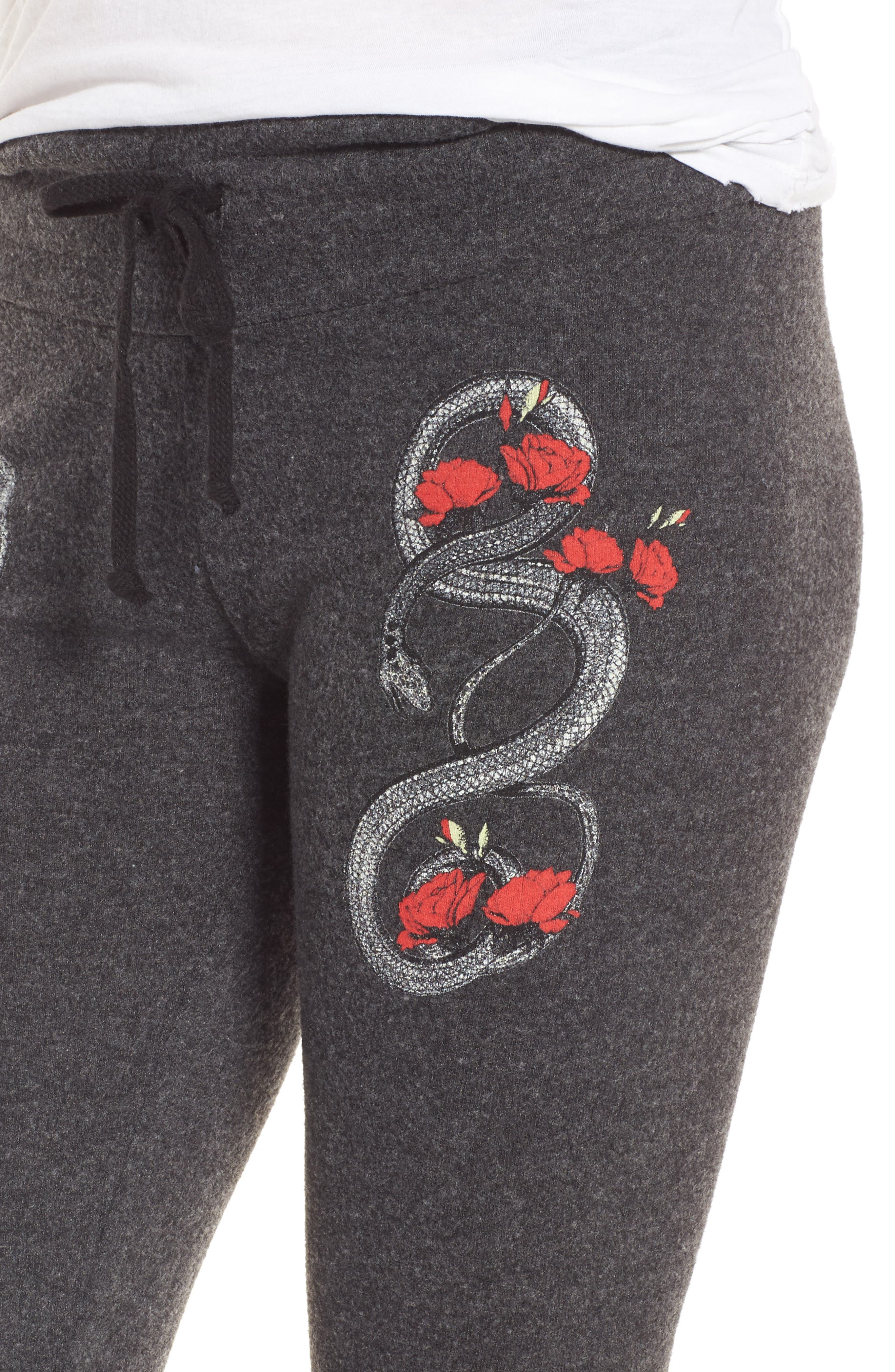 Red Snakes Sweatpants,                             Alternate thumbnail 4, color,                             002