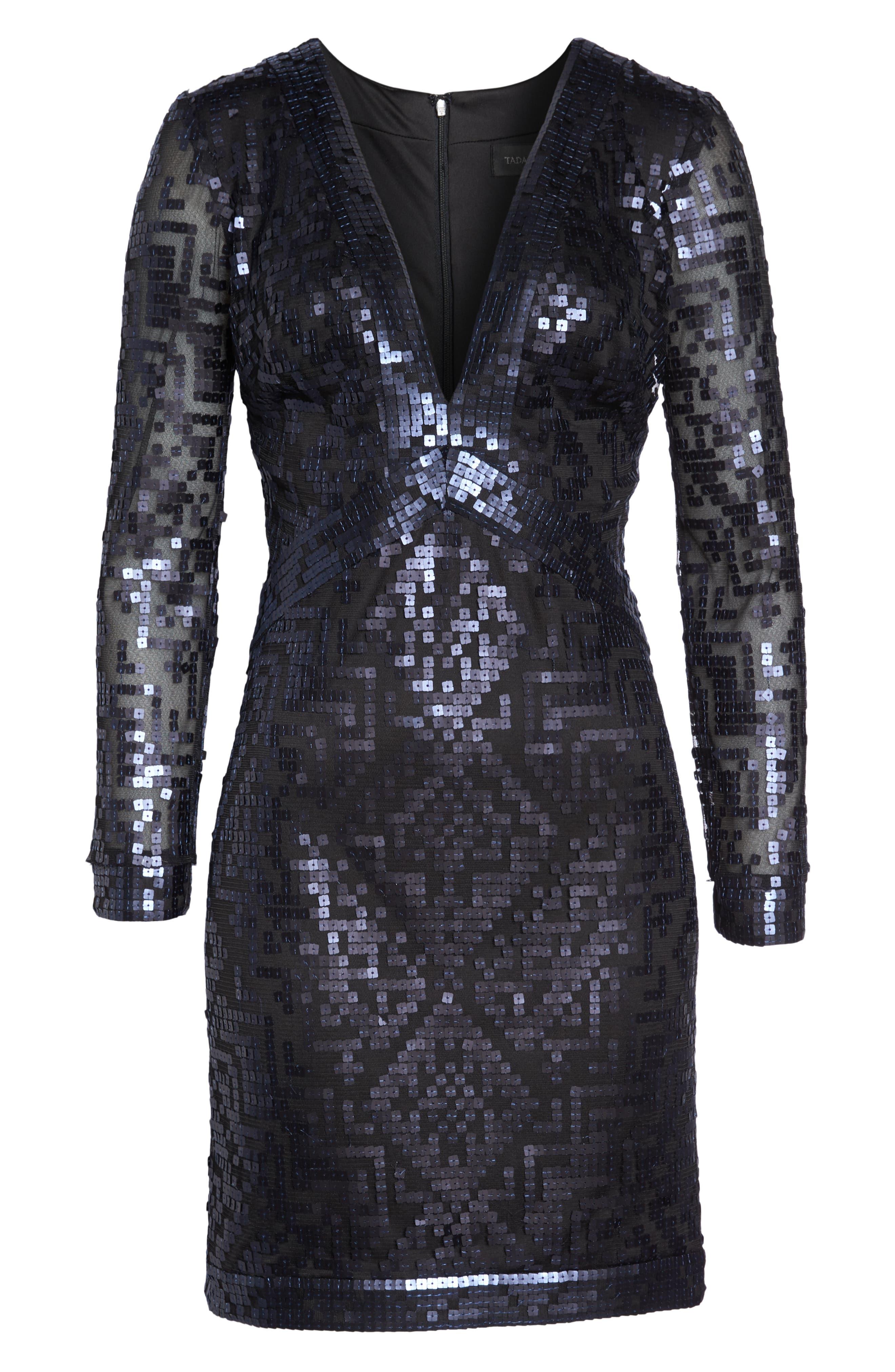 Sequin Cocktail Dress,                             Alternate thumbnail 6, color,                             412