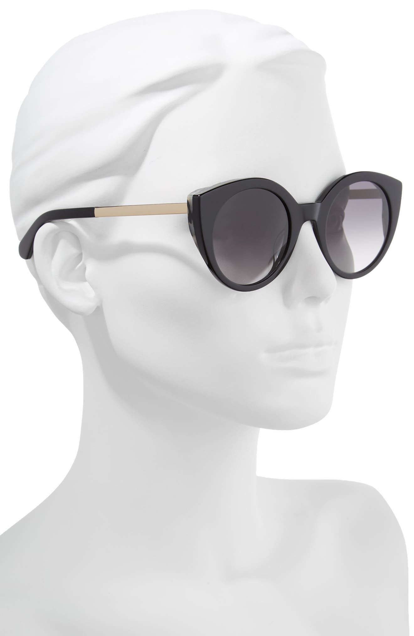 norinas 50mm cat eye sunglasses,                             Alternate thumbnail 2, color,                             001