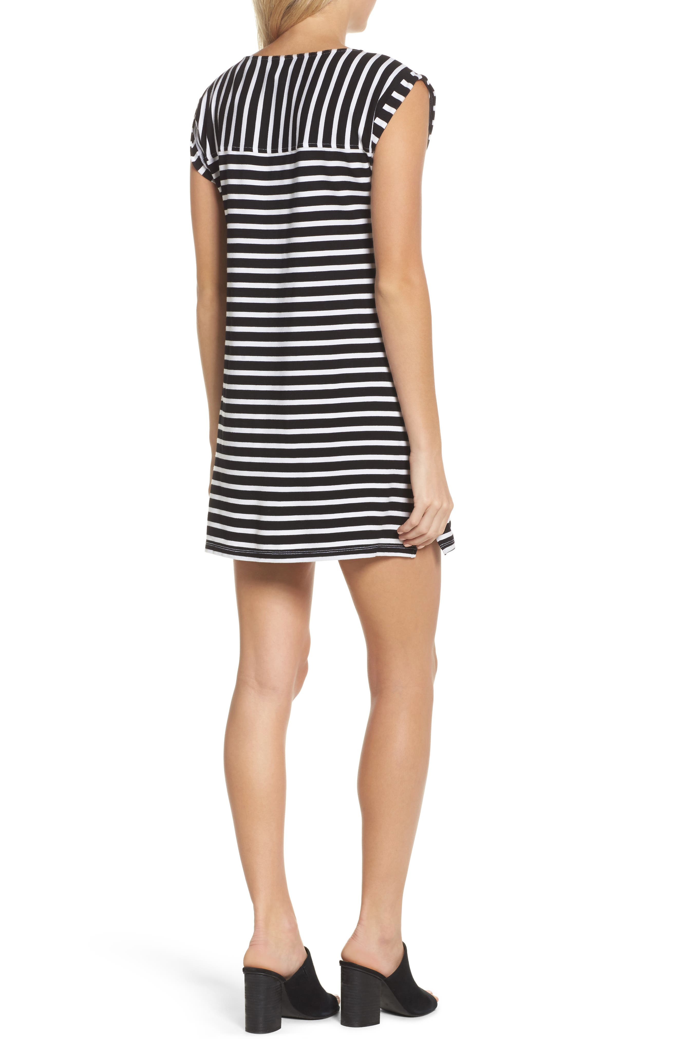 Breton Stripe Cover-Up Dress,                             Alternate thumbnail 2, color,