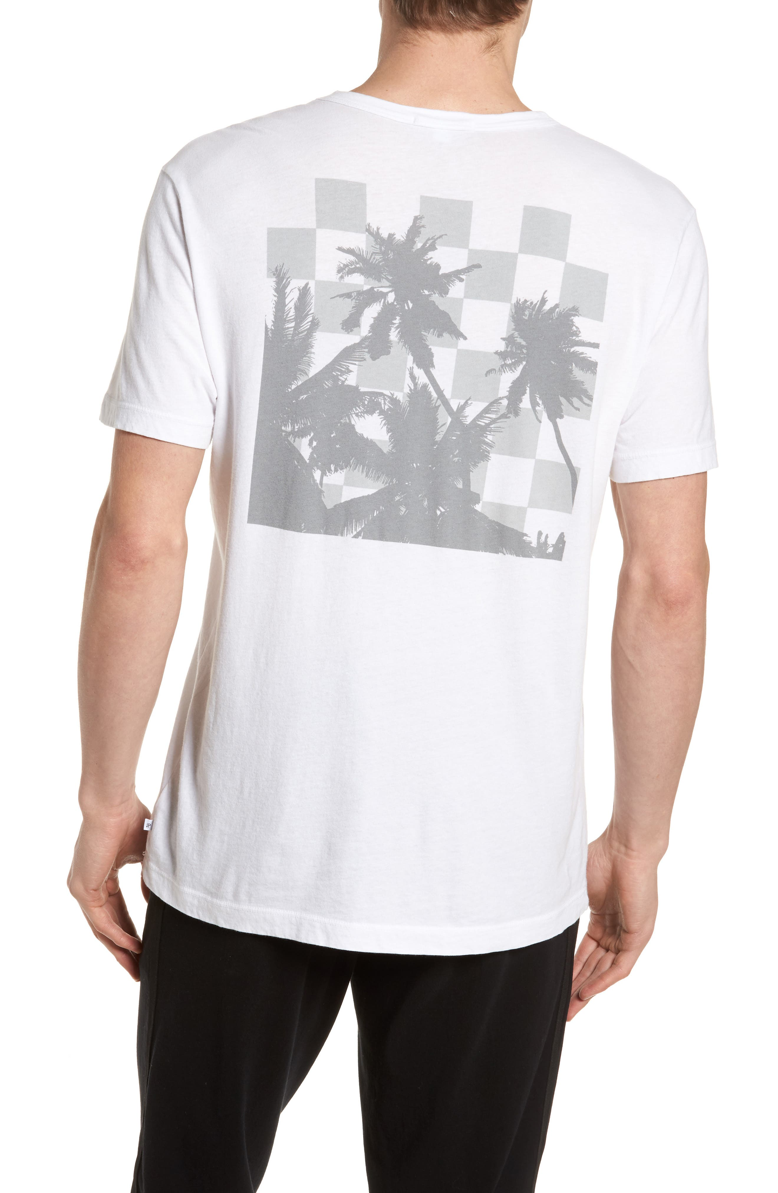 Checkerboard Crewneck T-Shirt,                             Alternate thumbnail 5, color,