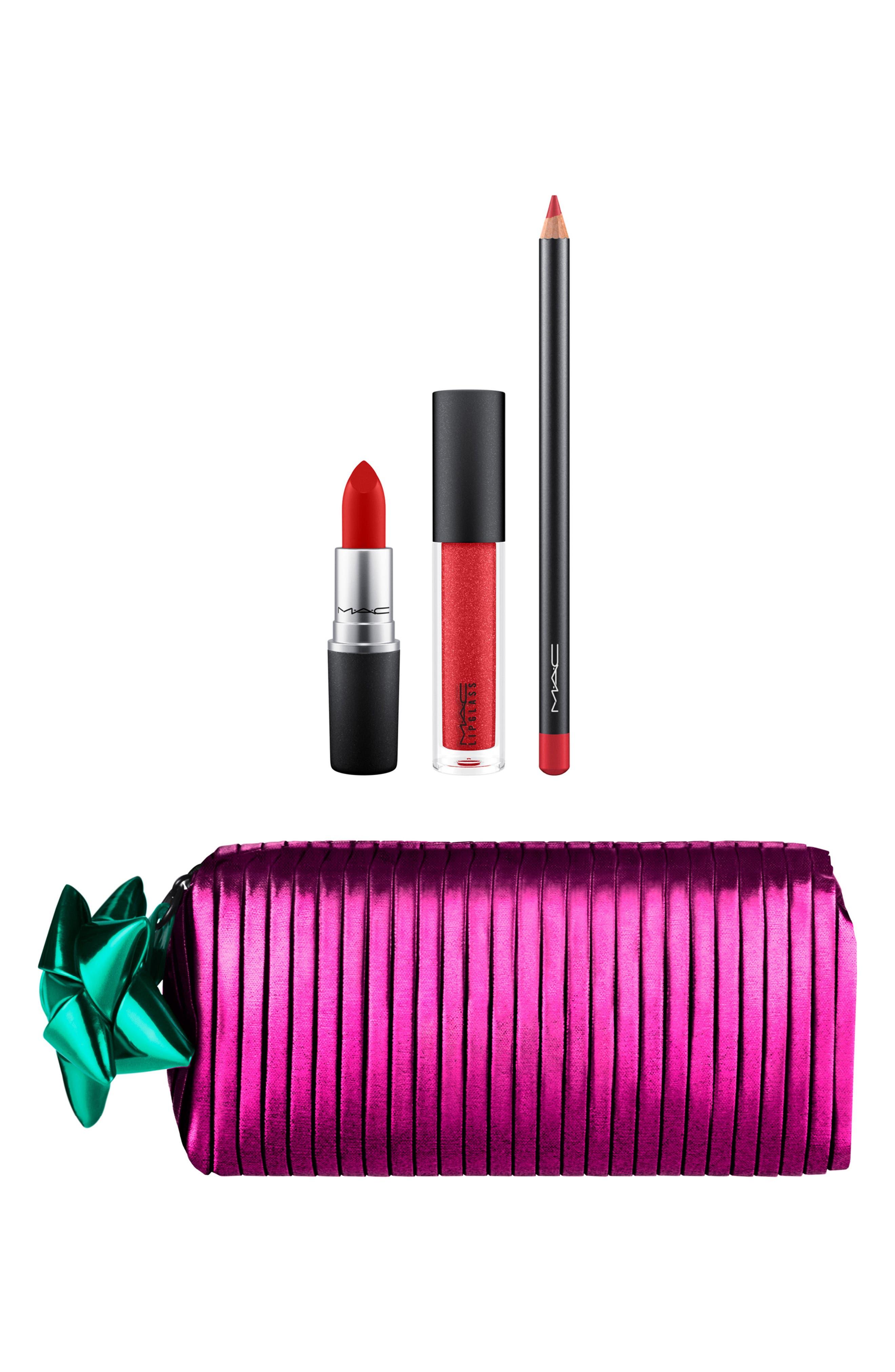 MAC Shiny Pretty Things Goody Bag Red Lips,                             Main thumbnail 1, color,                             RED LIPS