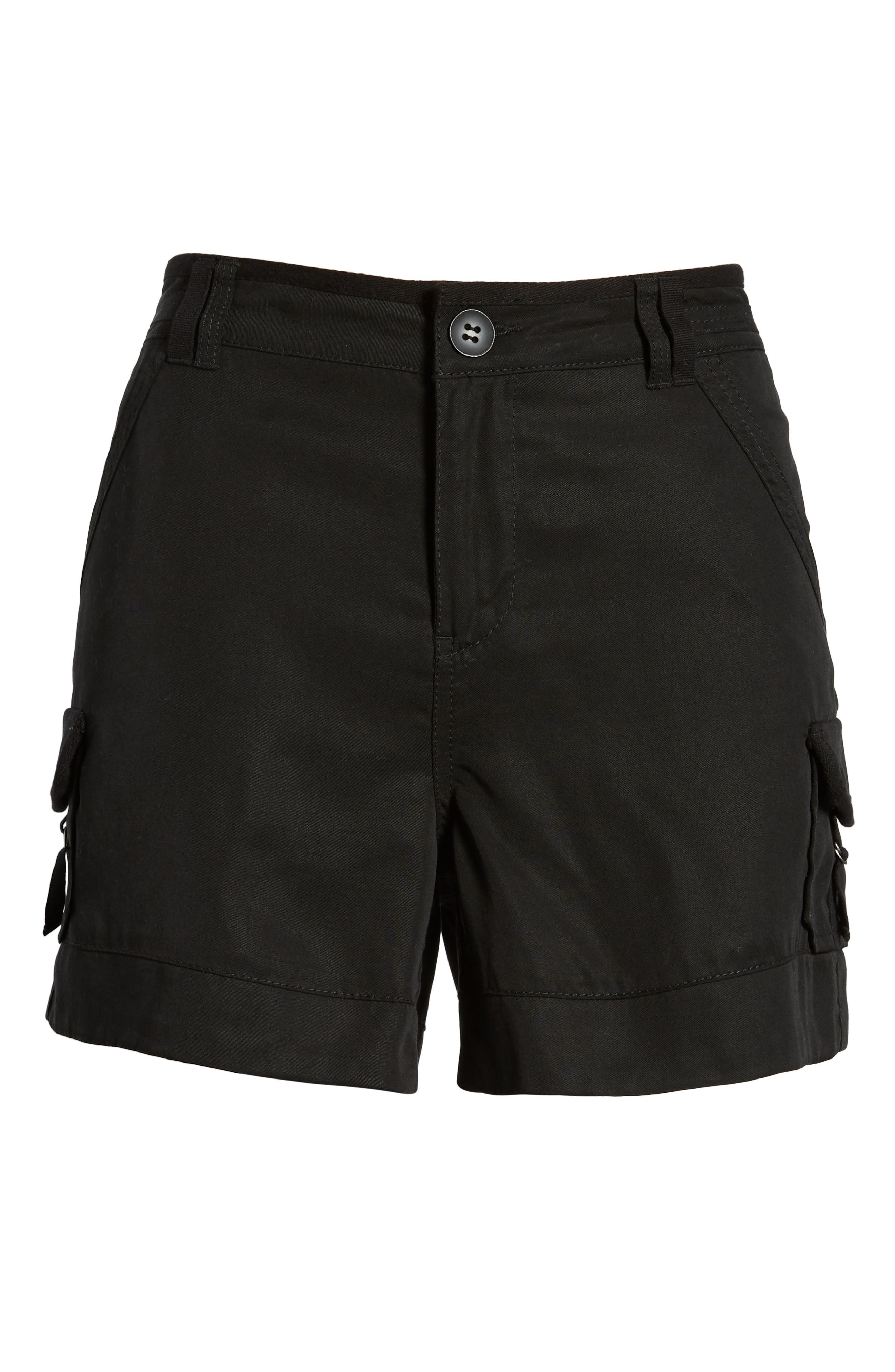 High Rise Tencel Shorts,                             Alternate thumbnail 21, color,