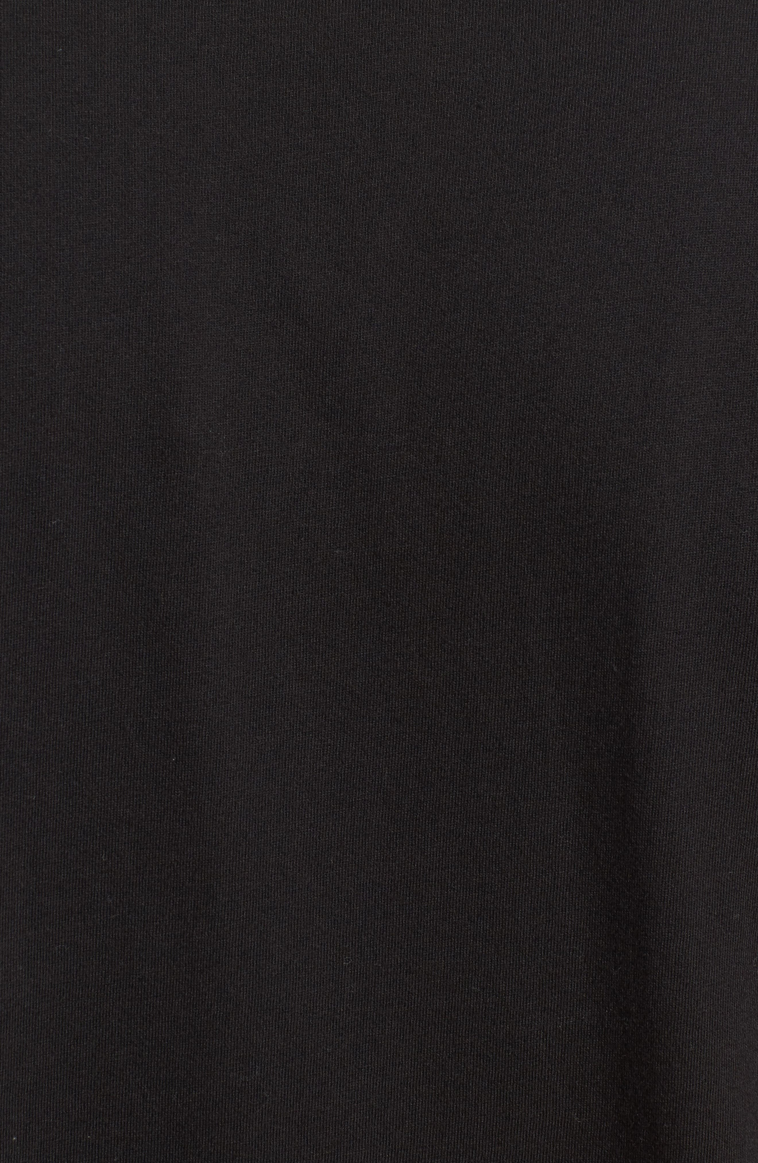 Lounge Pocket T-Shirt,                             Alternate thumbnail 5, color,                             BLACK