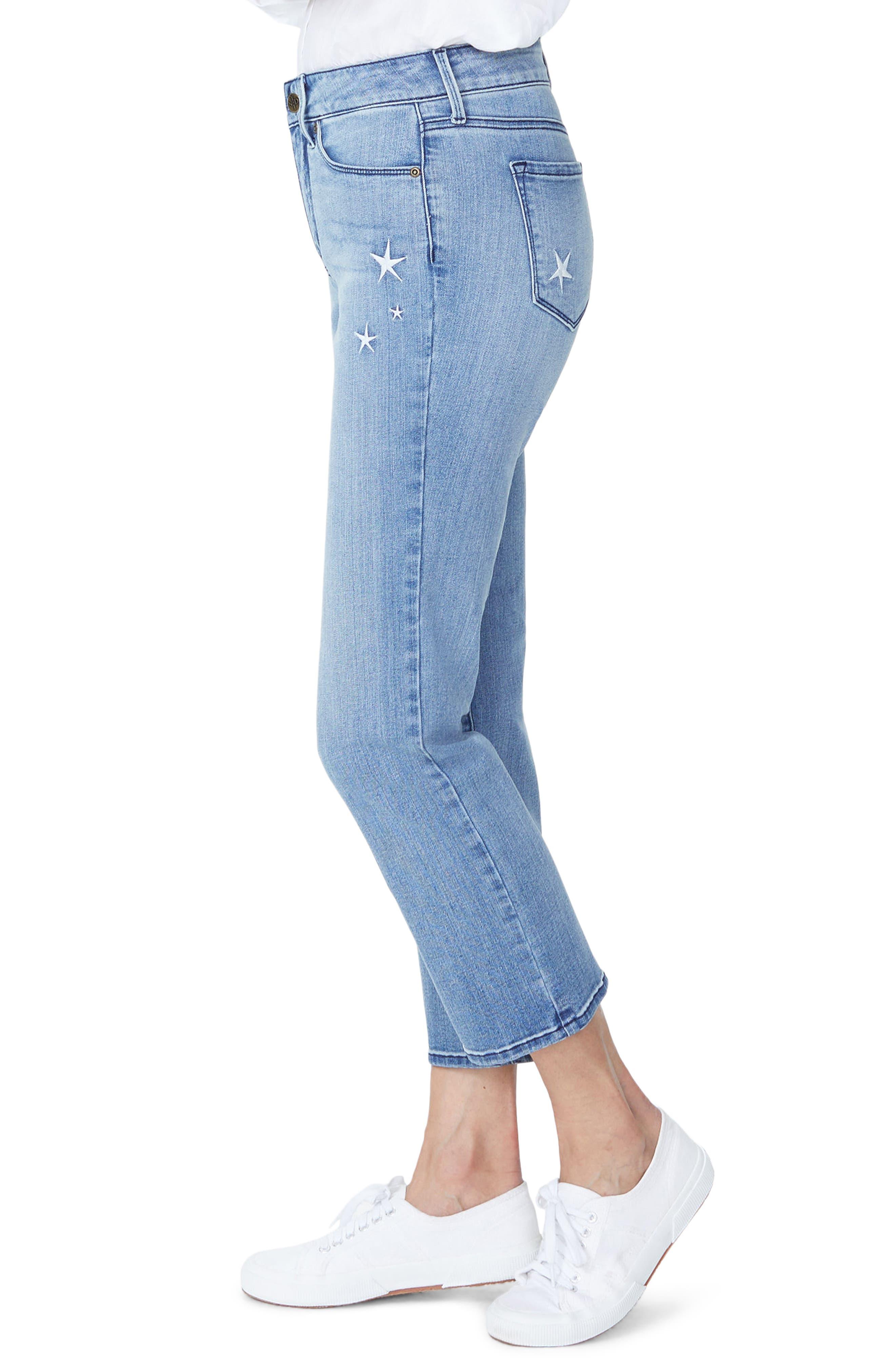 Marilyn High Waist Straight Leg Star Ankle Jeans,                             Alternate thumbnail 3, color,                             POINT DUME
