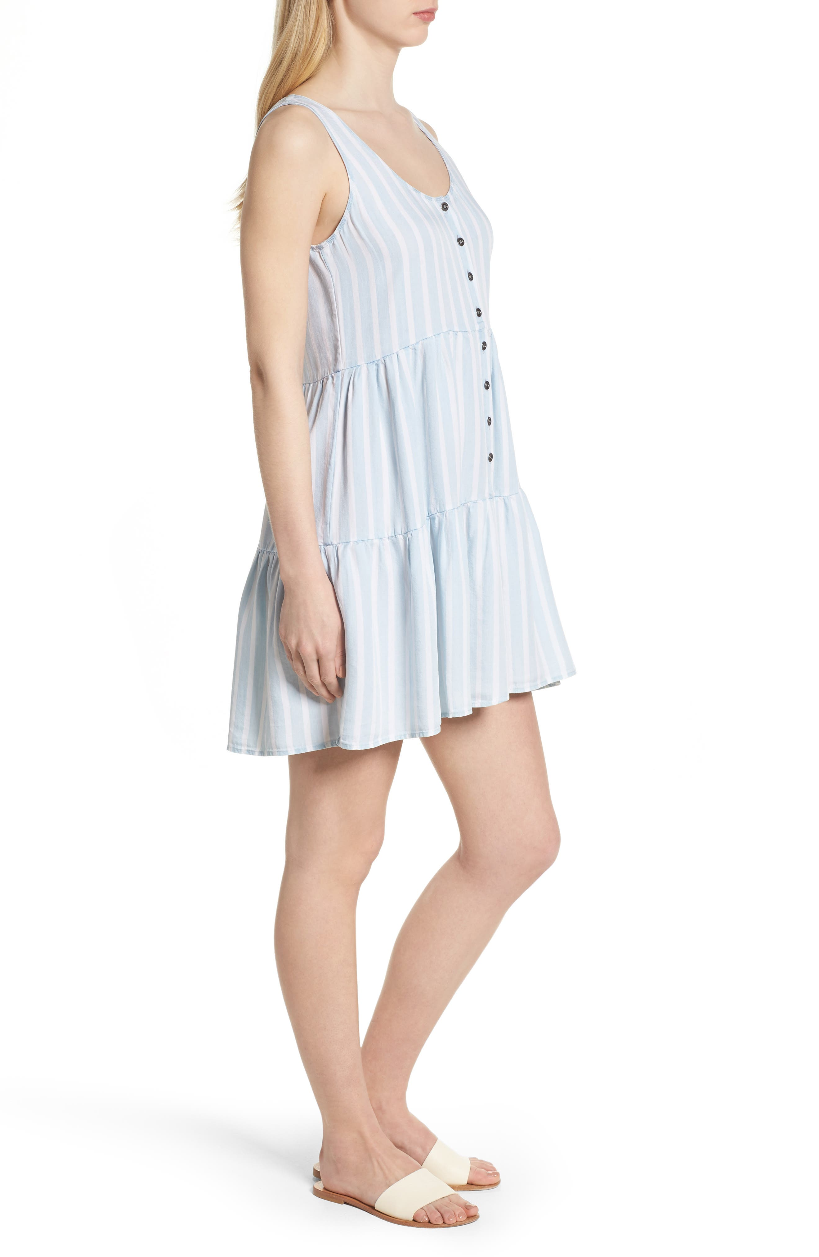 Nora Stripe Dress,                             Alternate thumbnail 3, color,                             470