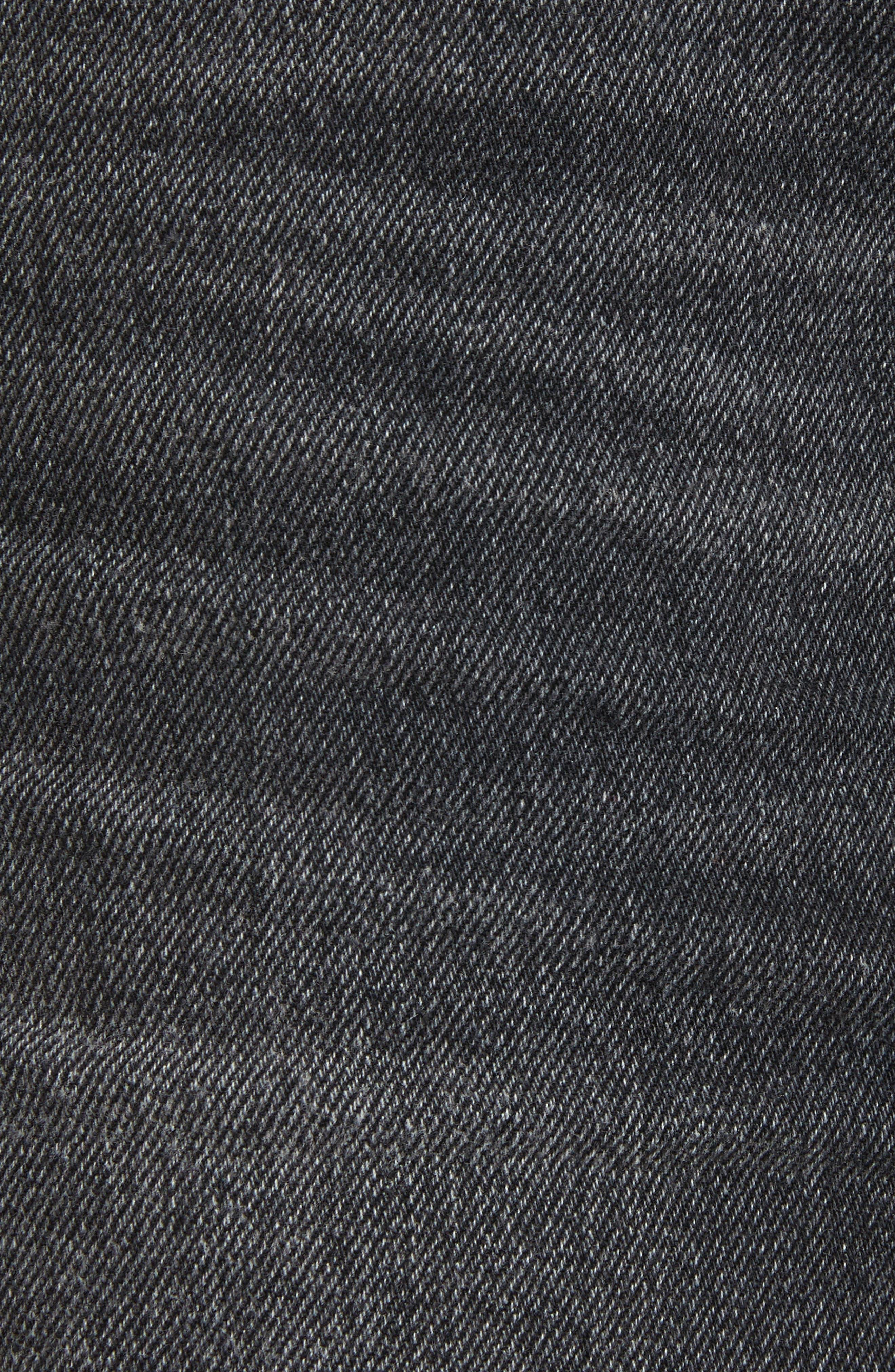 T by Alexander Wang Destroyed Hem Denim Skirt,                             Alternate thumbnail 5, color,                             025
