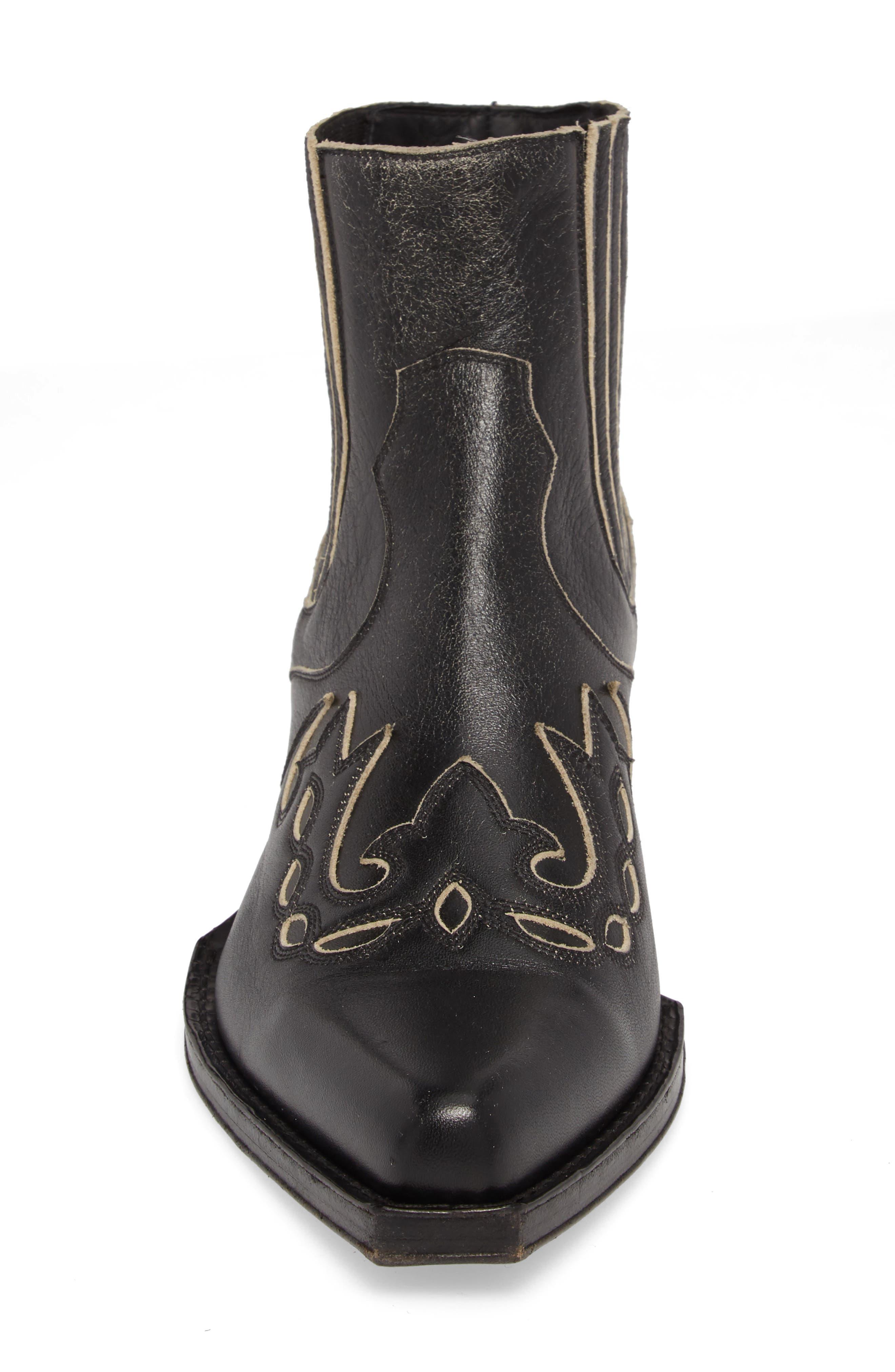 Cal Calvert Cowboy Boot,                             Alternate thumbnail 4, color,                             001