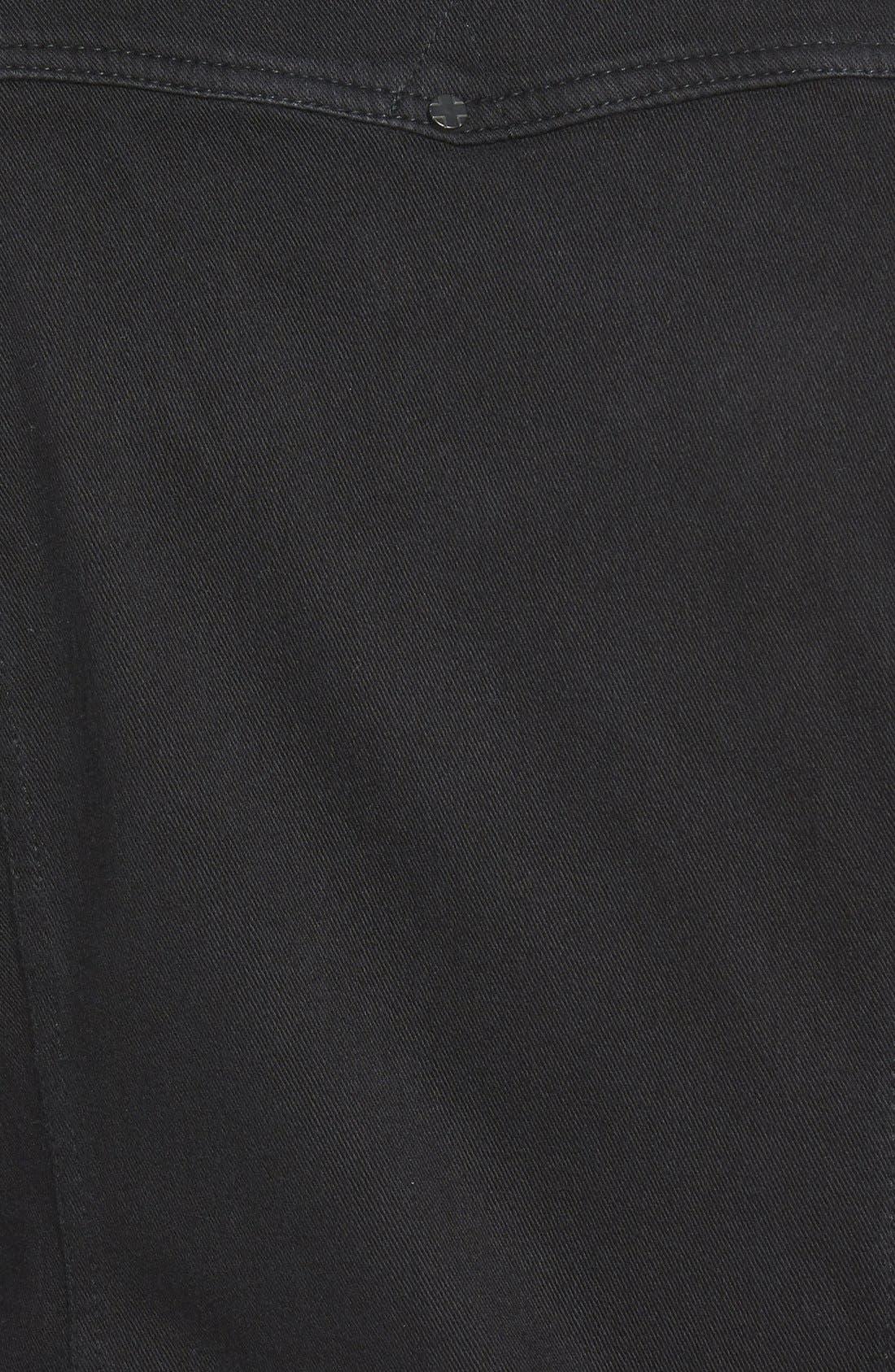 Jeans Co. Knit Denim Jacket,                             Alternate thumbnail 7, color,                             001