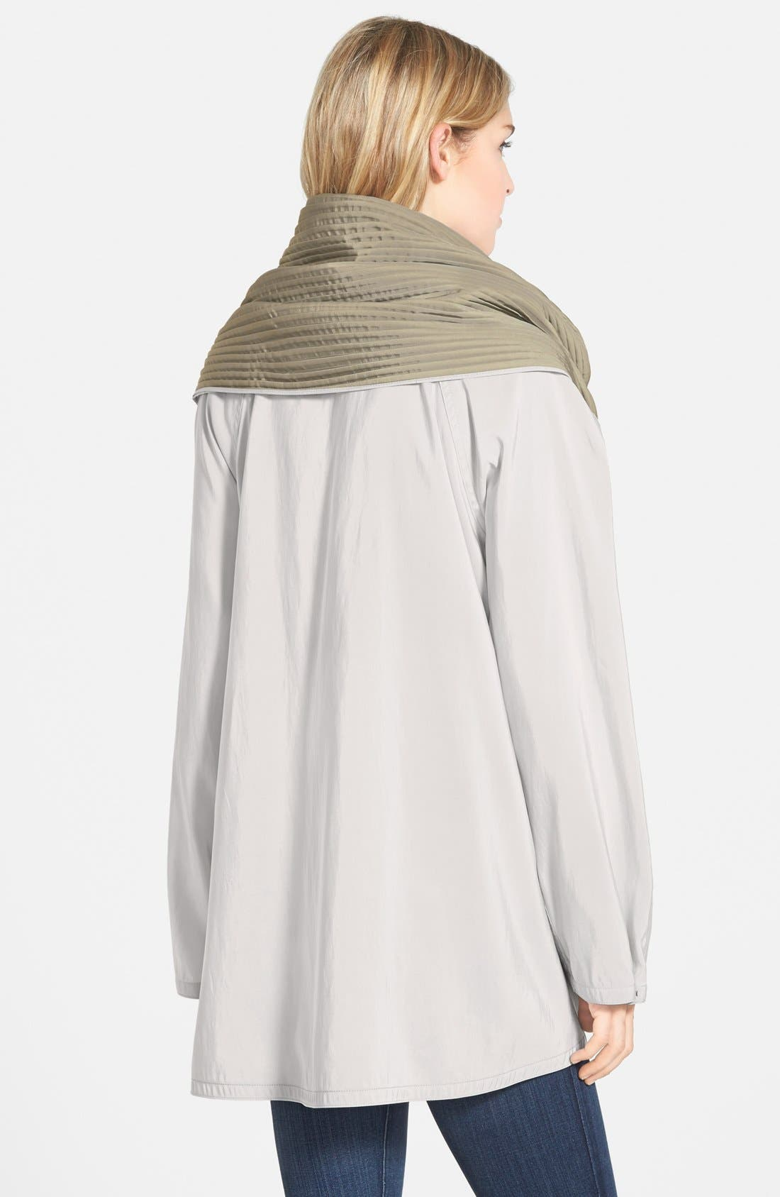 'Mini Donatella' Reversible Pleat Hood Packable Travel Coat,                             Alternate thumbnail 19, color,