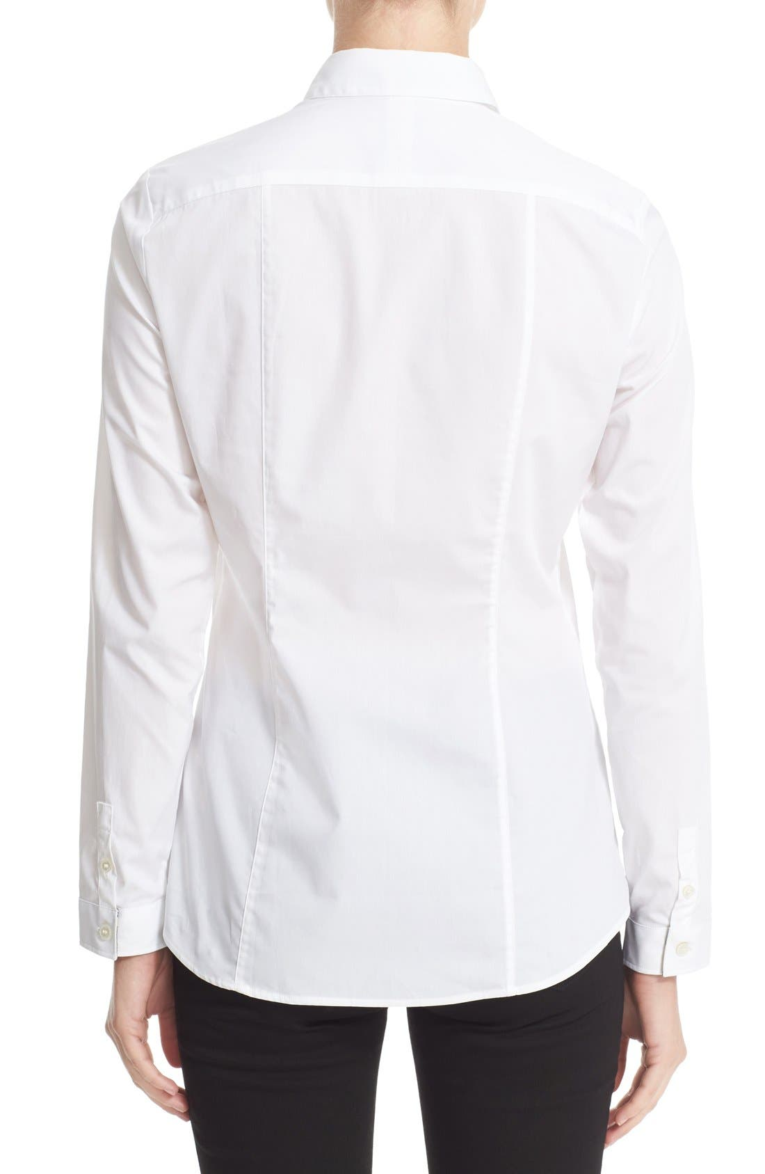 Stretch Poplin Shirt,                             Alternate thumbnail 8, color,                             100