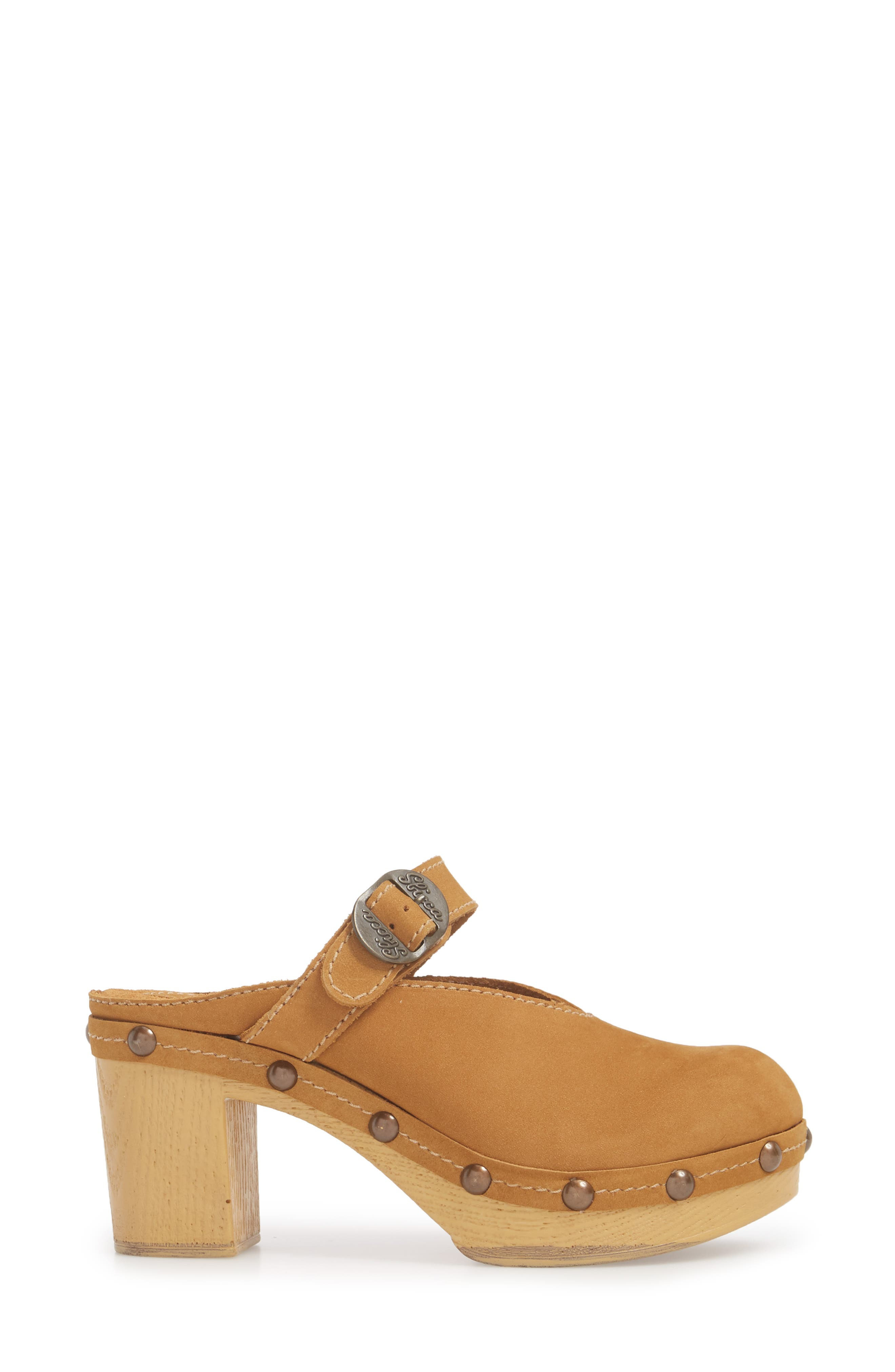 Natacha Studded Mary Jane Clog,                             Alternate thumbnail 3, color,                             TAN