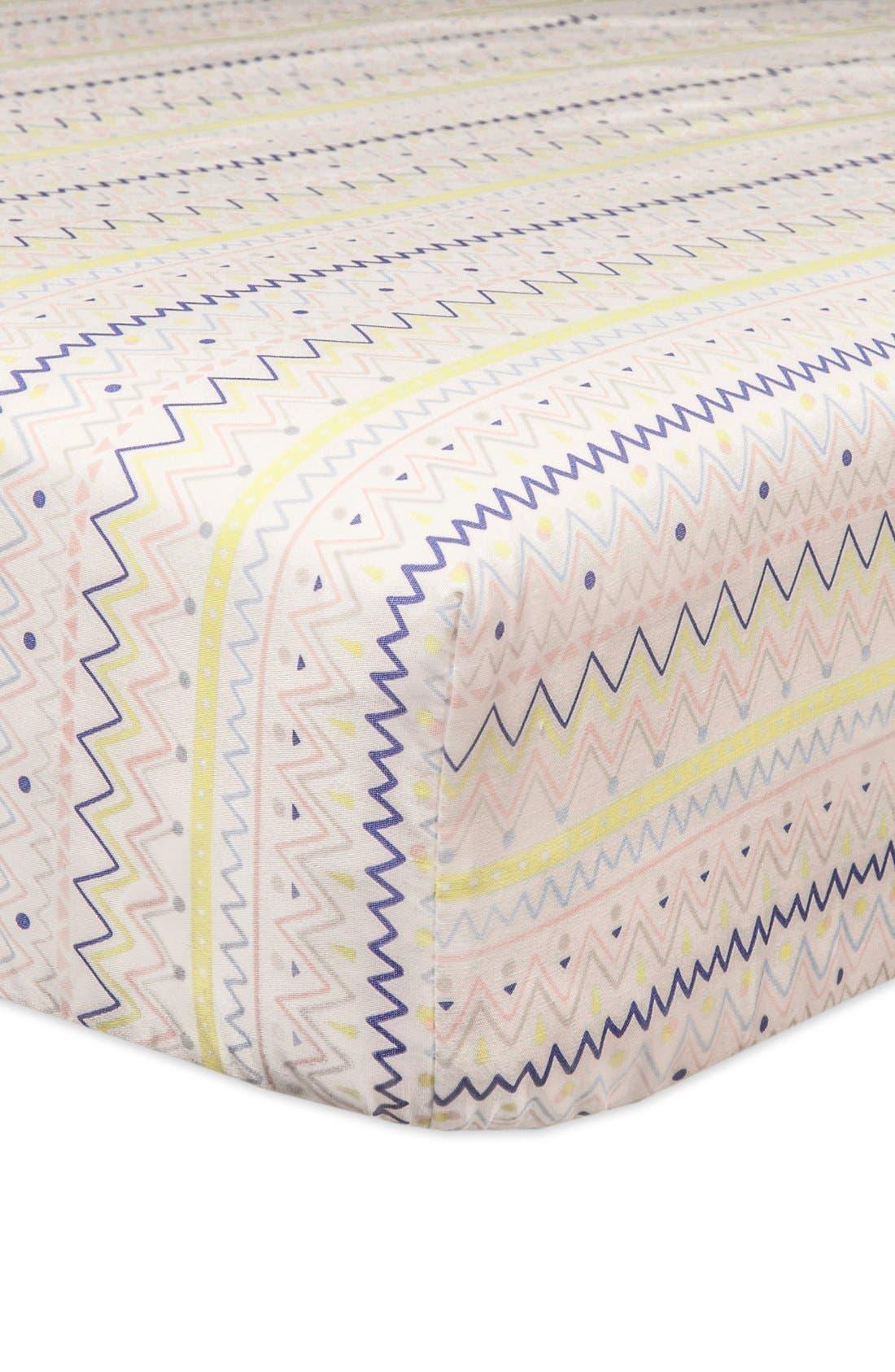 'Desert' Crib Sheet, Crib Skirt, Changing Pad Cover, Play Blanket, Stroller Blanket & Wall Decals,                             Alternate thumbnail 4, color,                             OFF WHITE