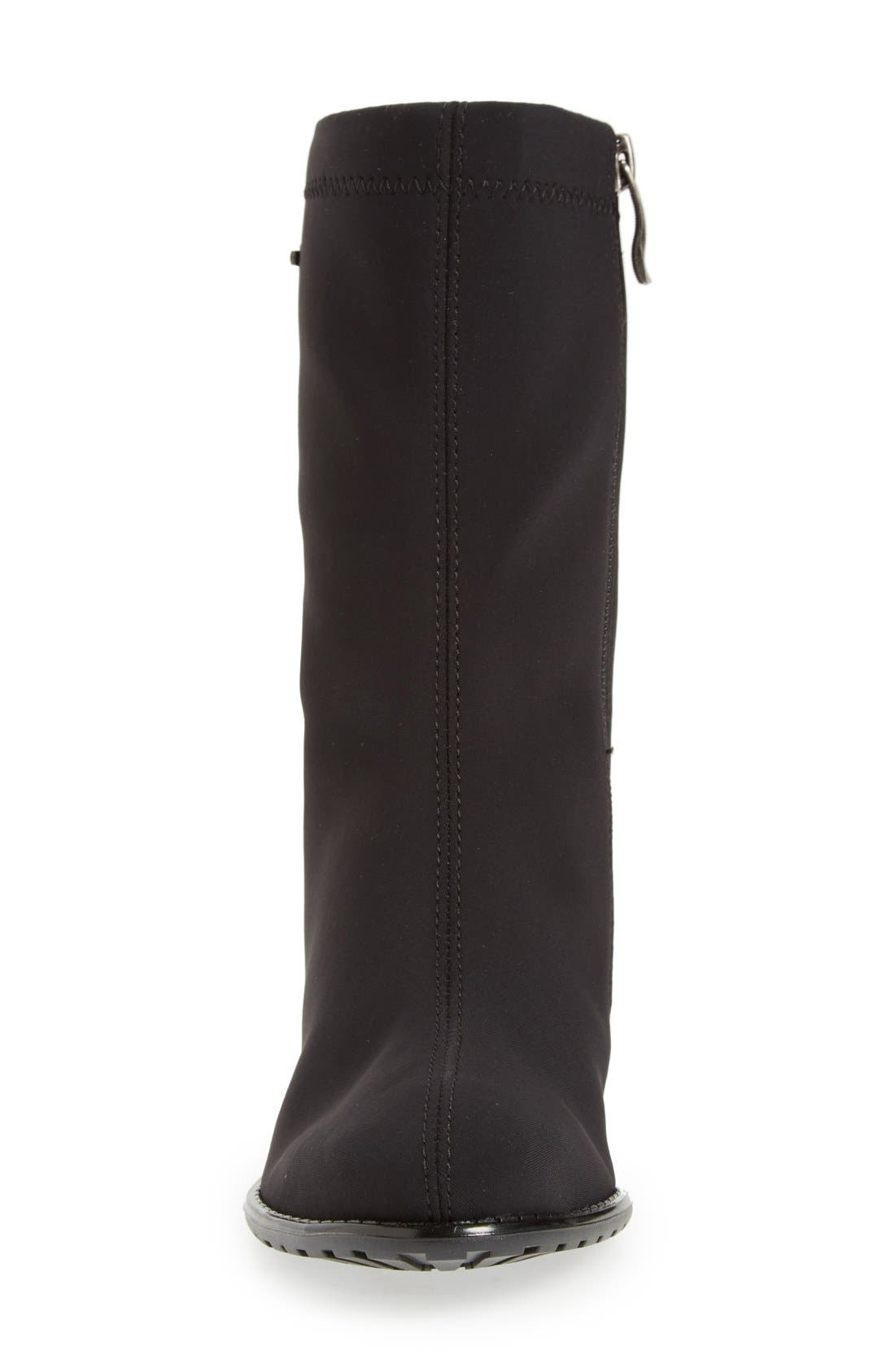 'Fairfax' Waterproof Gore-Tex<sup>®</sup> Block Heel Boot,                             Alternate thumbnail 4, color,                             001
