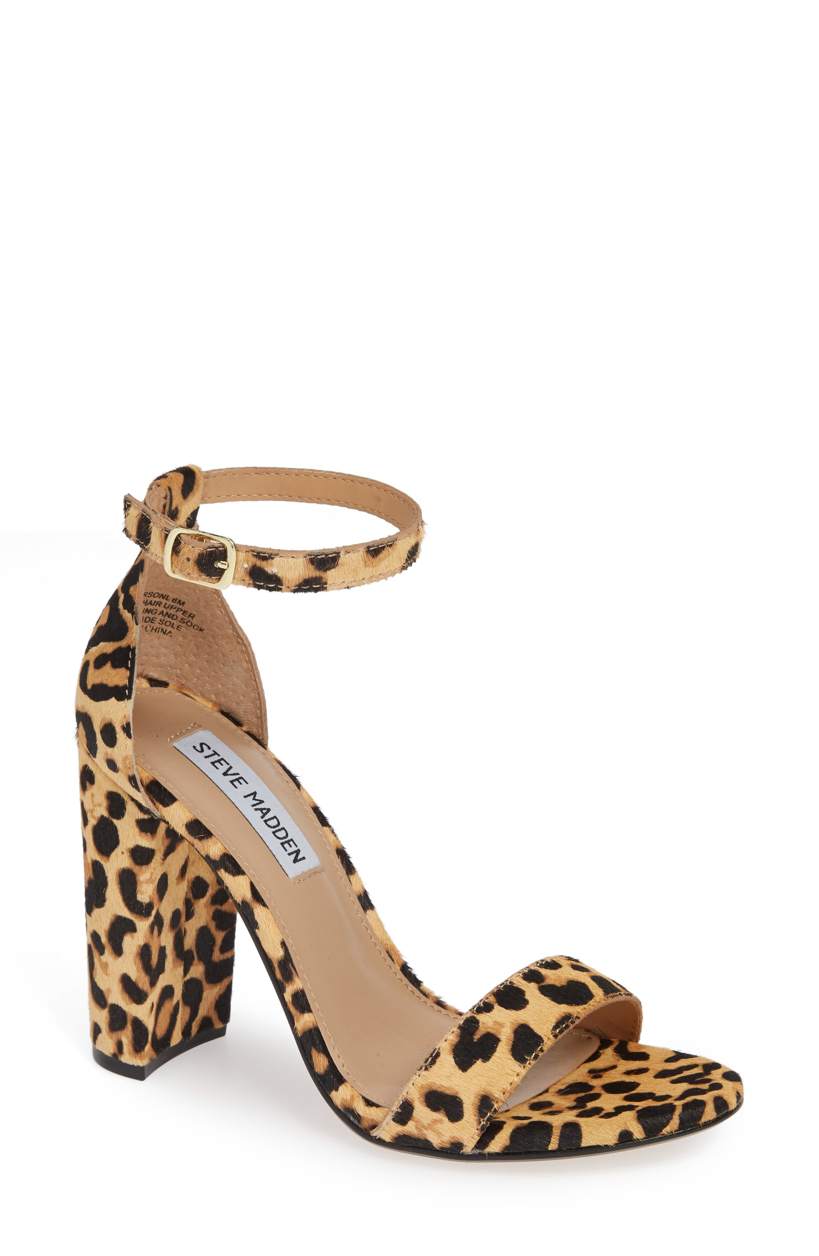 'Carrson' Sandal,                         Main,                         color, LEOPARD MULTI