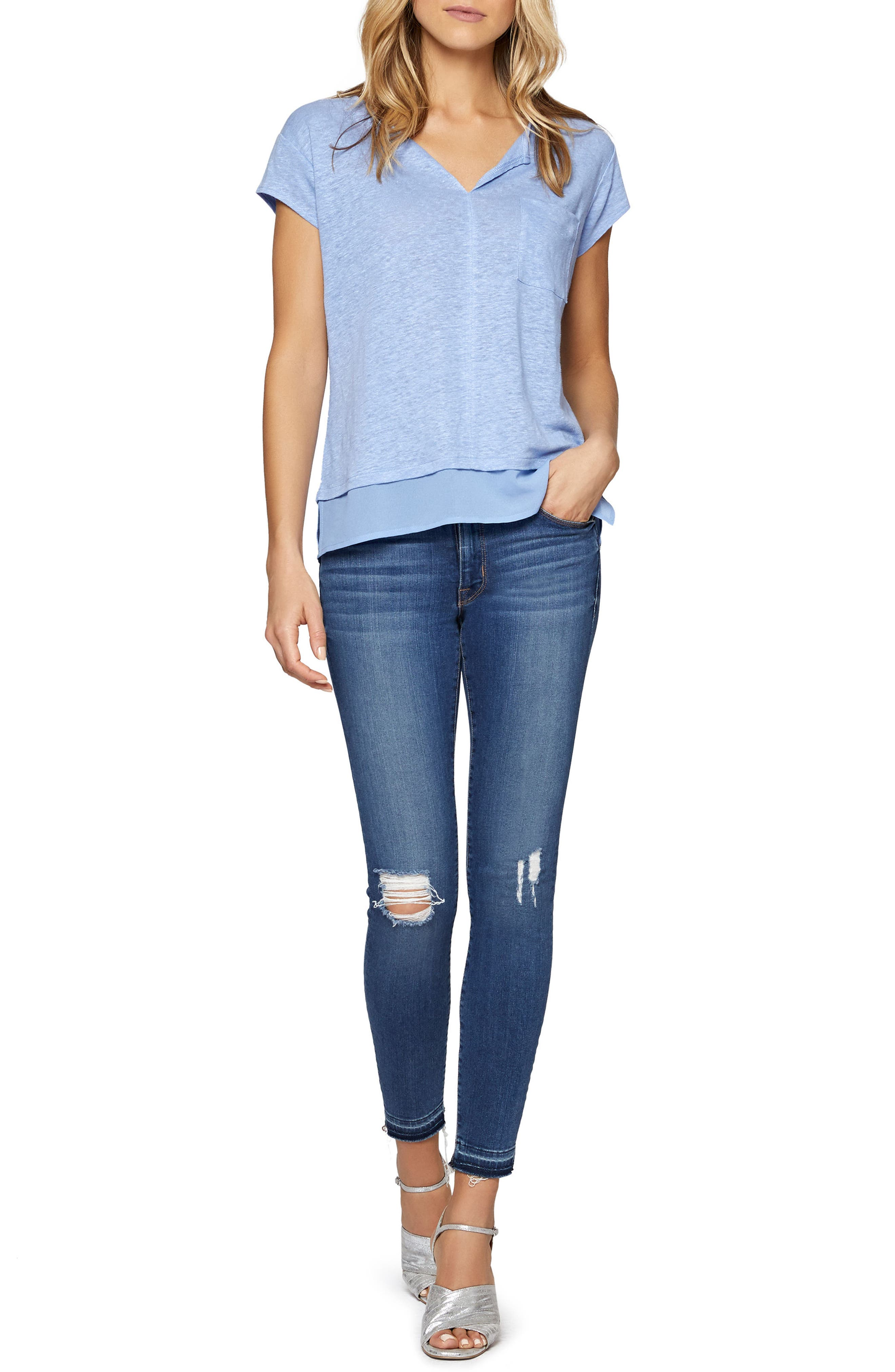 City Mix Layered Look Tee,                             Alternate thumbnail 69, color,