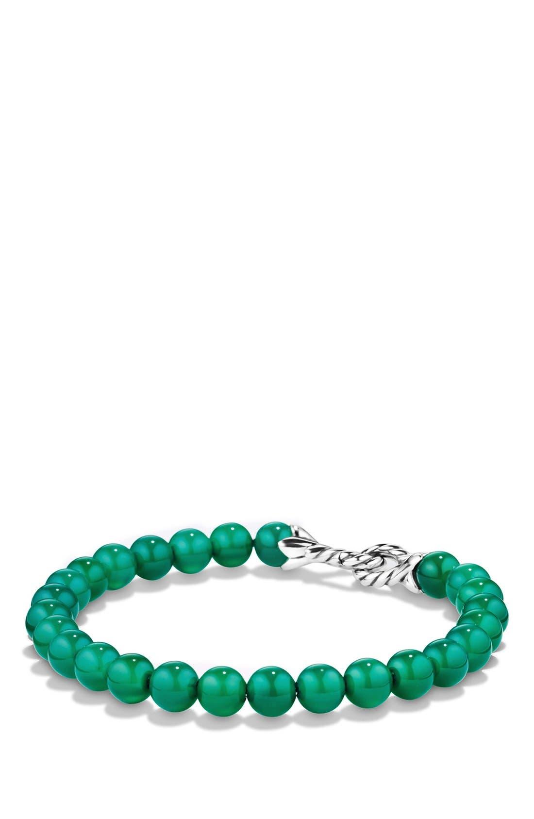 DAVID YURMAN 'Spiritual Beads' Bracelet, Main, color, GREEN ONYX