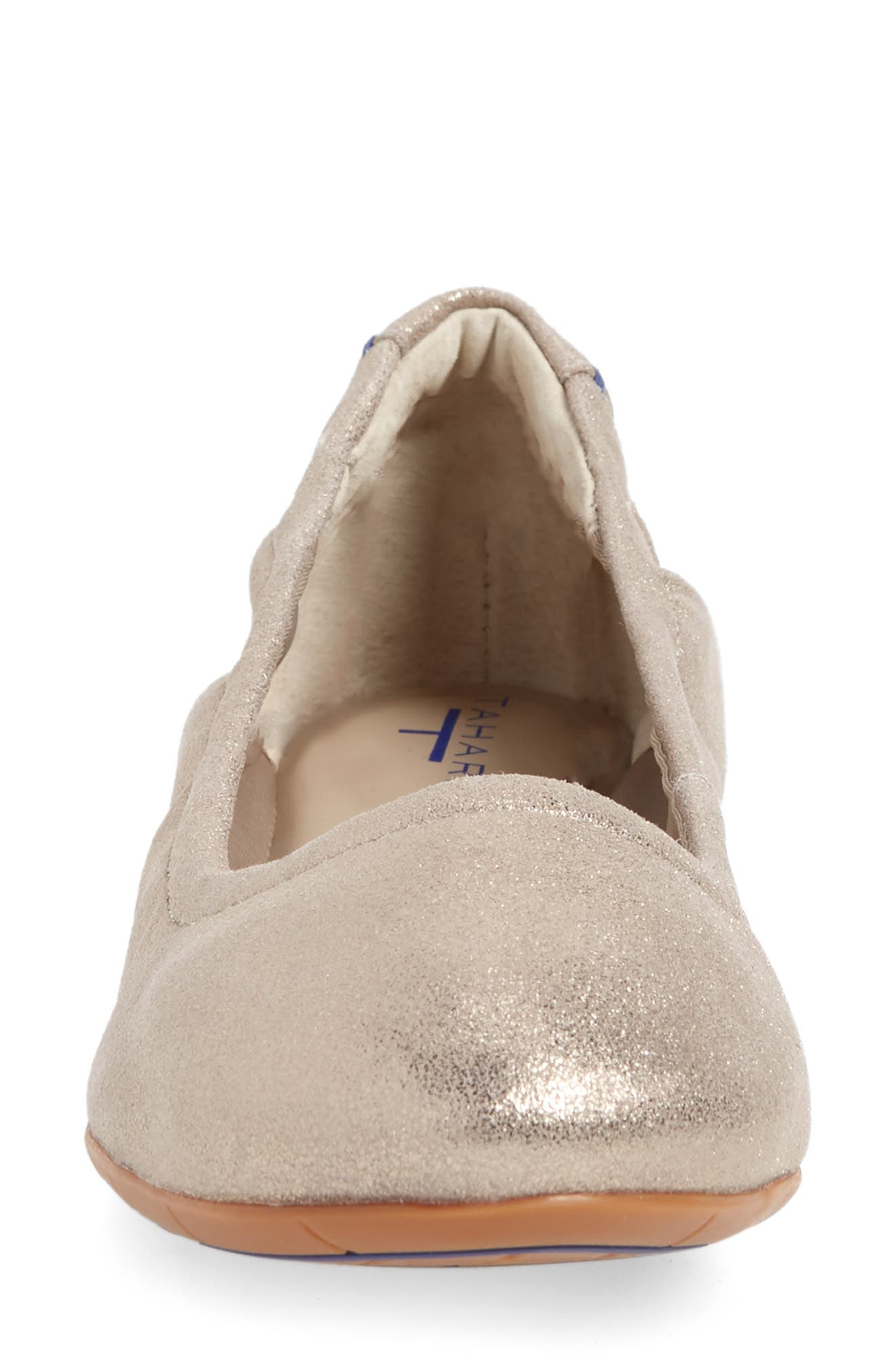 Helena Flat,                             Alternate thumbnail 4, color,                             TAUPE NUBUCK LEATHER