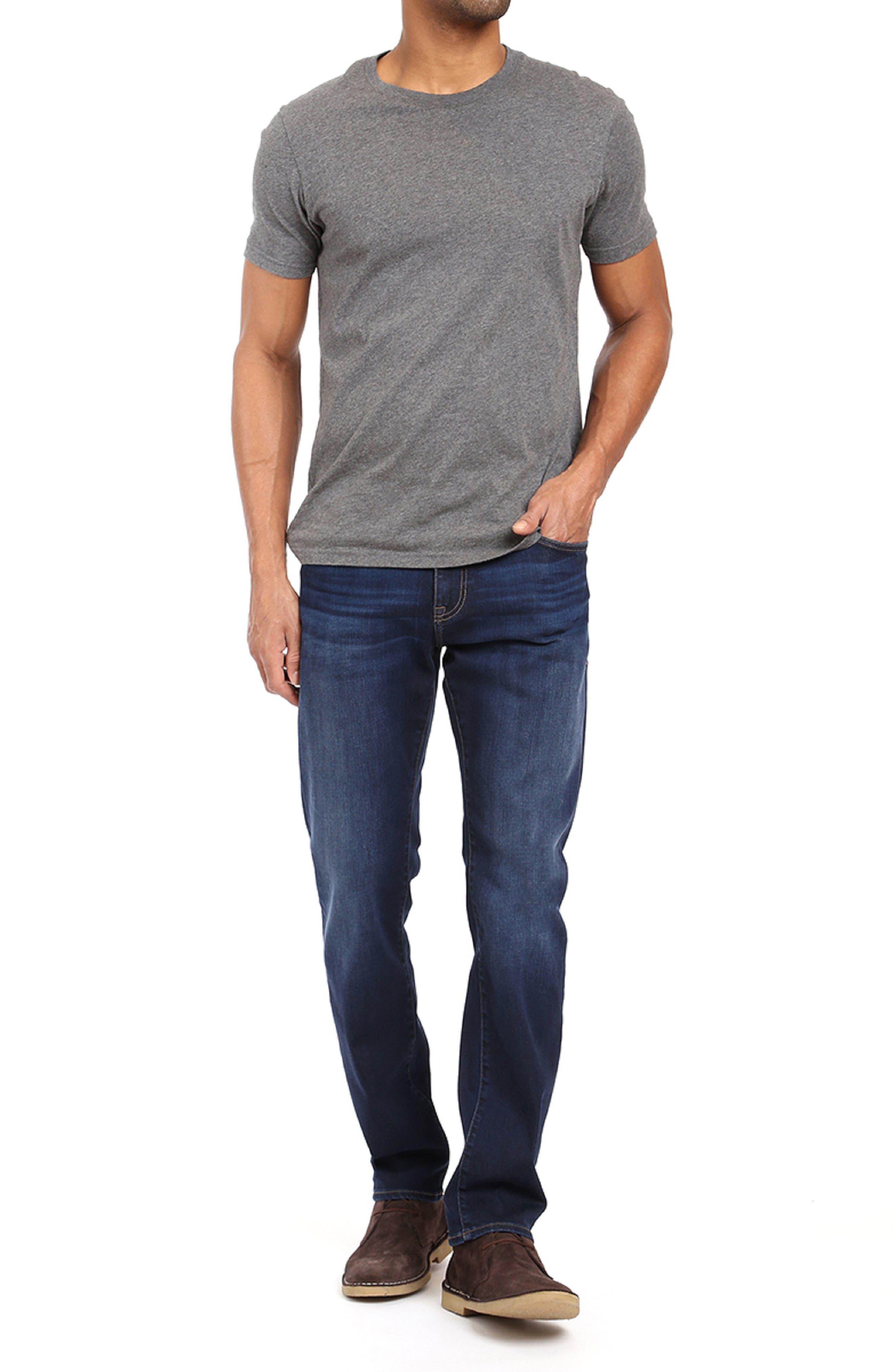 Zach Straight Leg Jeans,                             Alternate thumbnail 7, color,                             DEEP SOFT MOVE