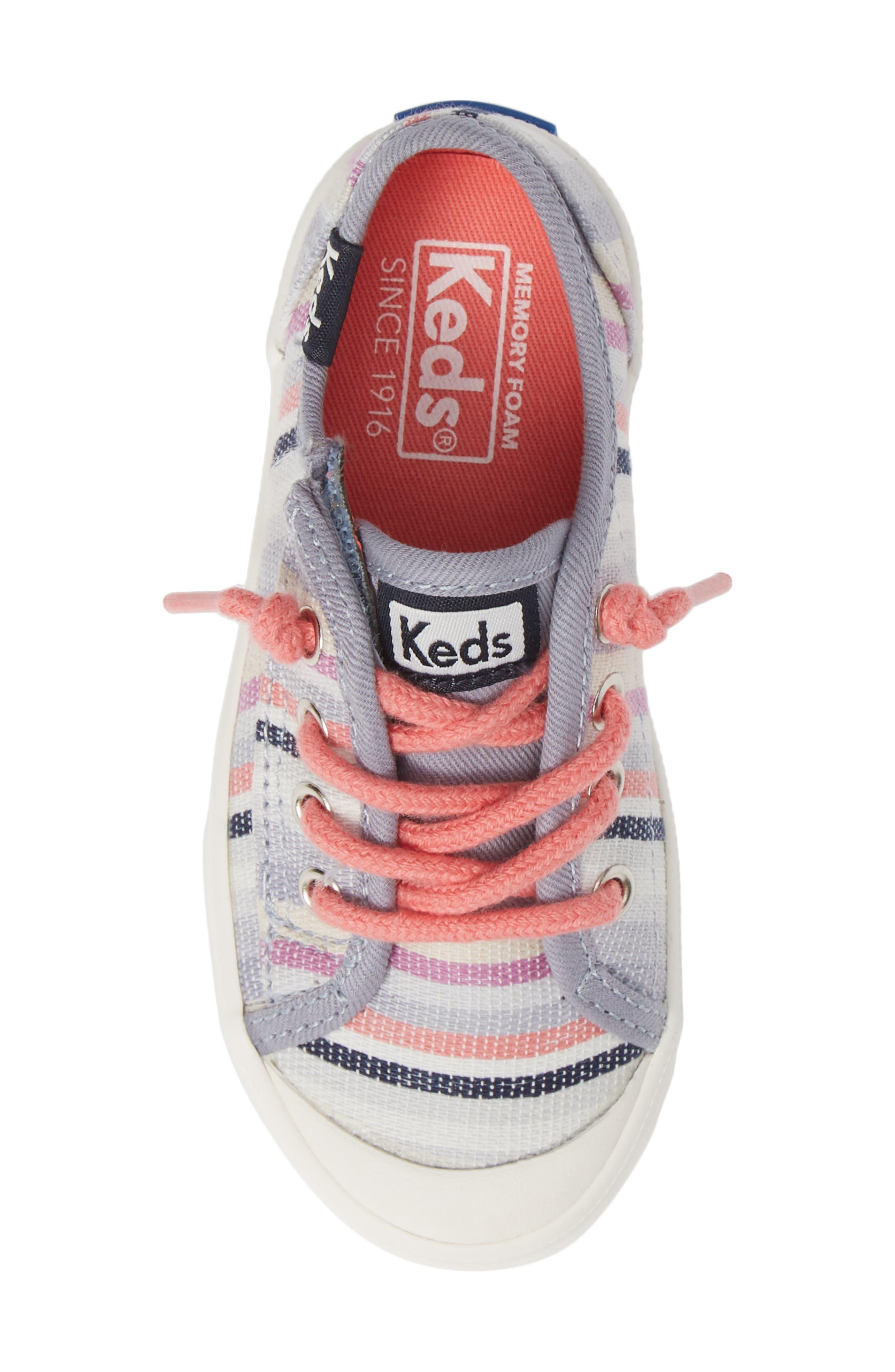 Kickstart Stripe Cap Toe Sneaker,                             Alternate thumbnail 5, color,                             MULTI STRIPE